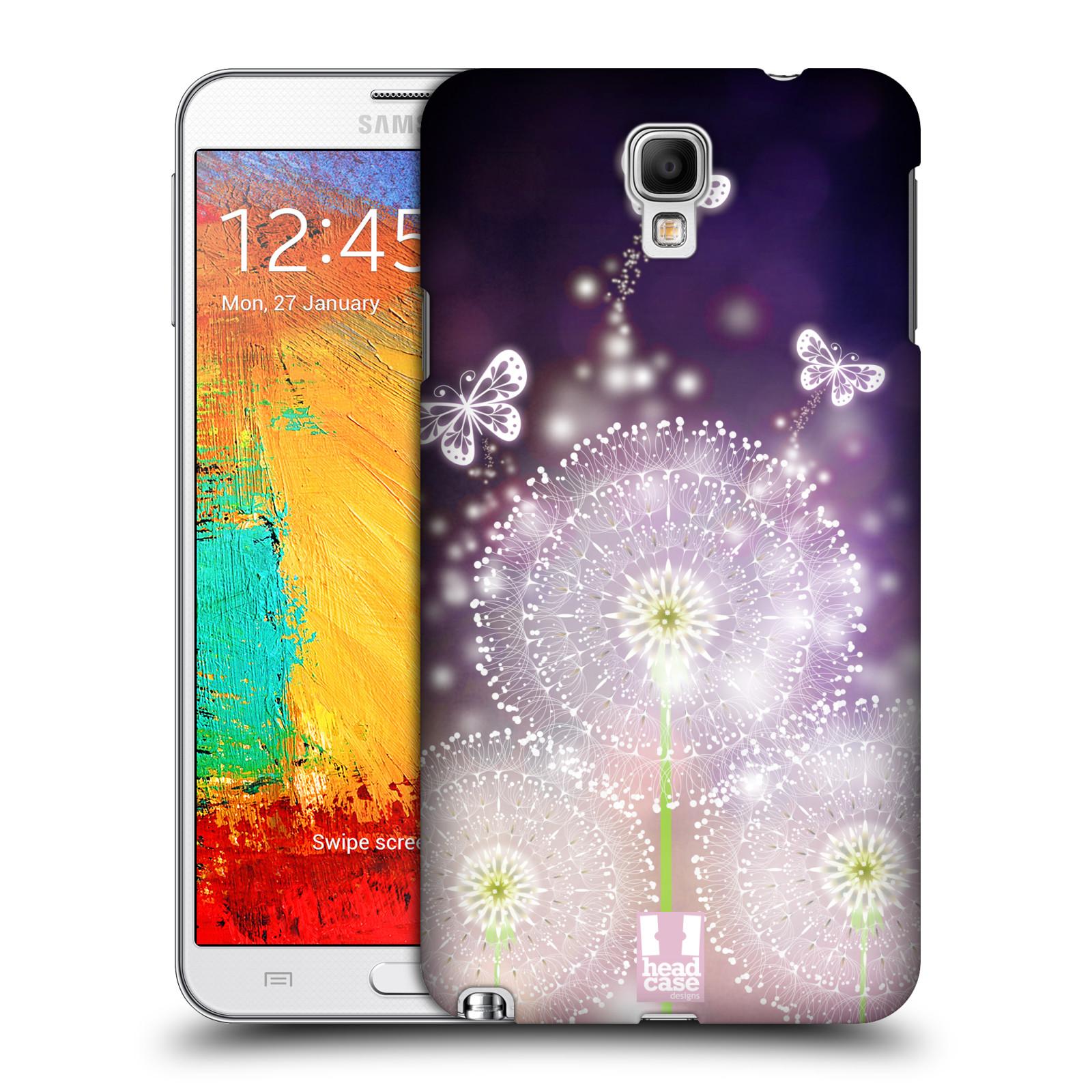 Plastové pouzdro na mobil Samsung Galaxy Note 3 Neo HEAD CASE Pampelišky a Motýlci (Kryt či obal na mobilní telefon Samsung Galaxy Note 3 Neo SM-N7505)