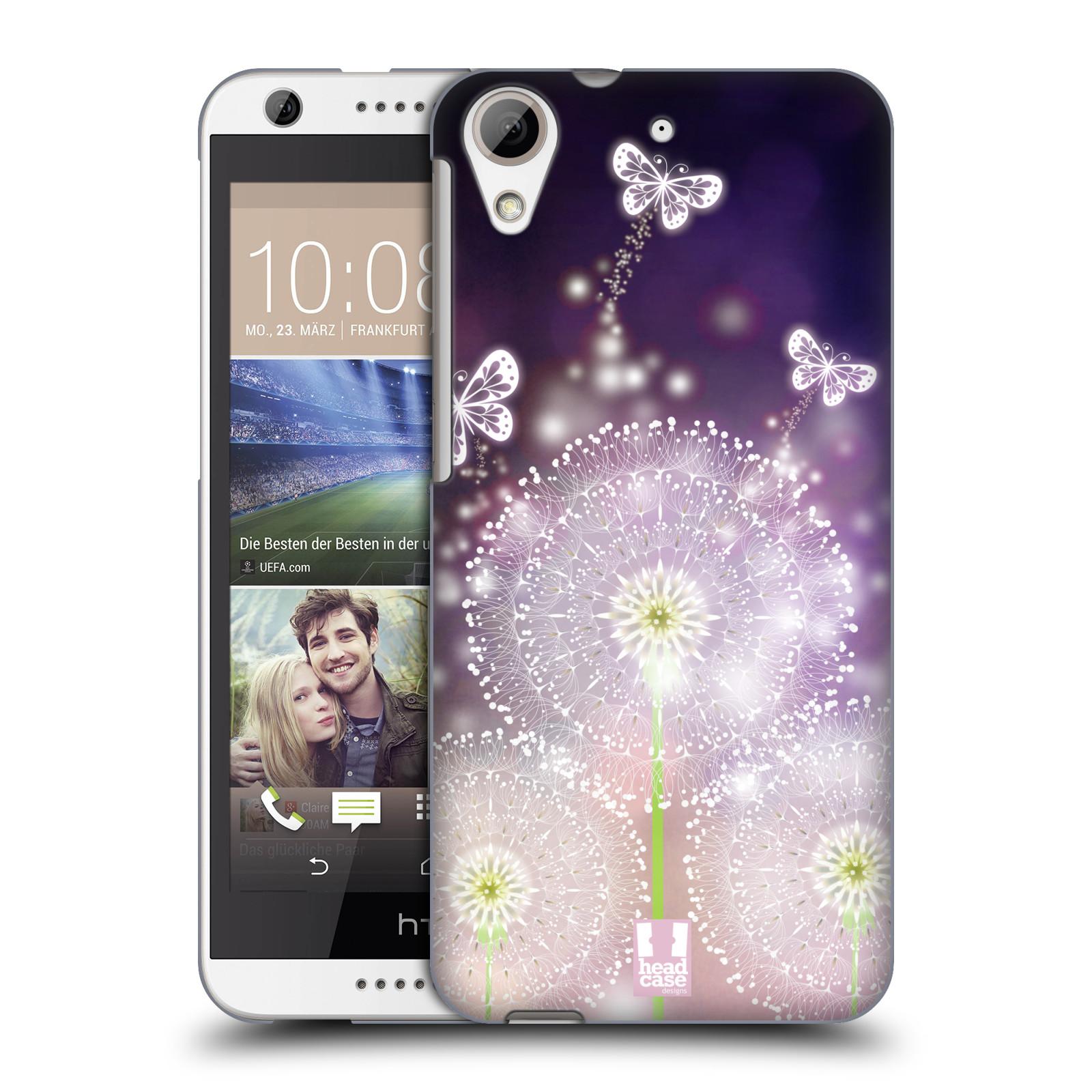 Plastové pouzdro na mobil HTC Desire 626 / 626G HEAD CASE Pampelišky a Motýlci (Kryt či obal na mobilní telefon HTC Desire 626G Dual SIM a HTC Desire 626)