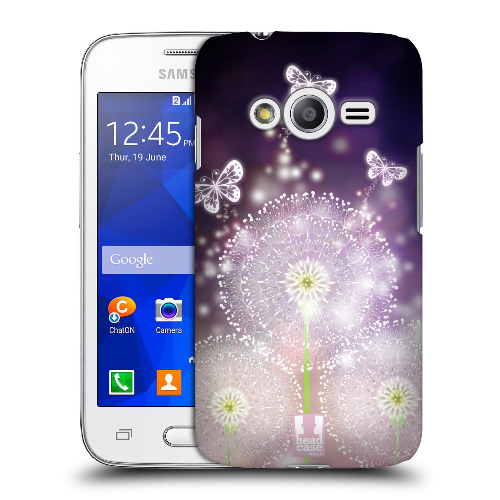 Plastové pouzdro na mobil Samsung Galaxy Trend 2 Lite HEAD CASE Pampelišky a Motýlci (Kryt či obal na mobilní telefon Samsung Galaxy Trend 2 Lite SM-G318)