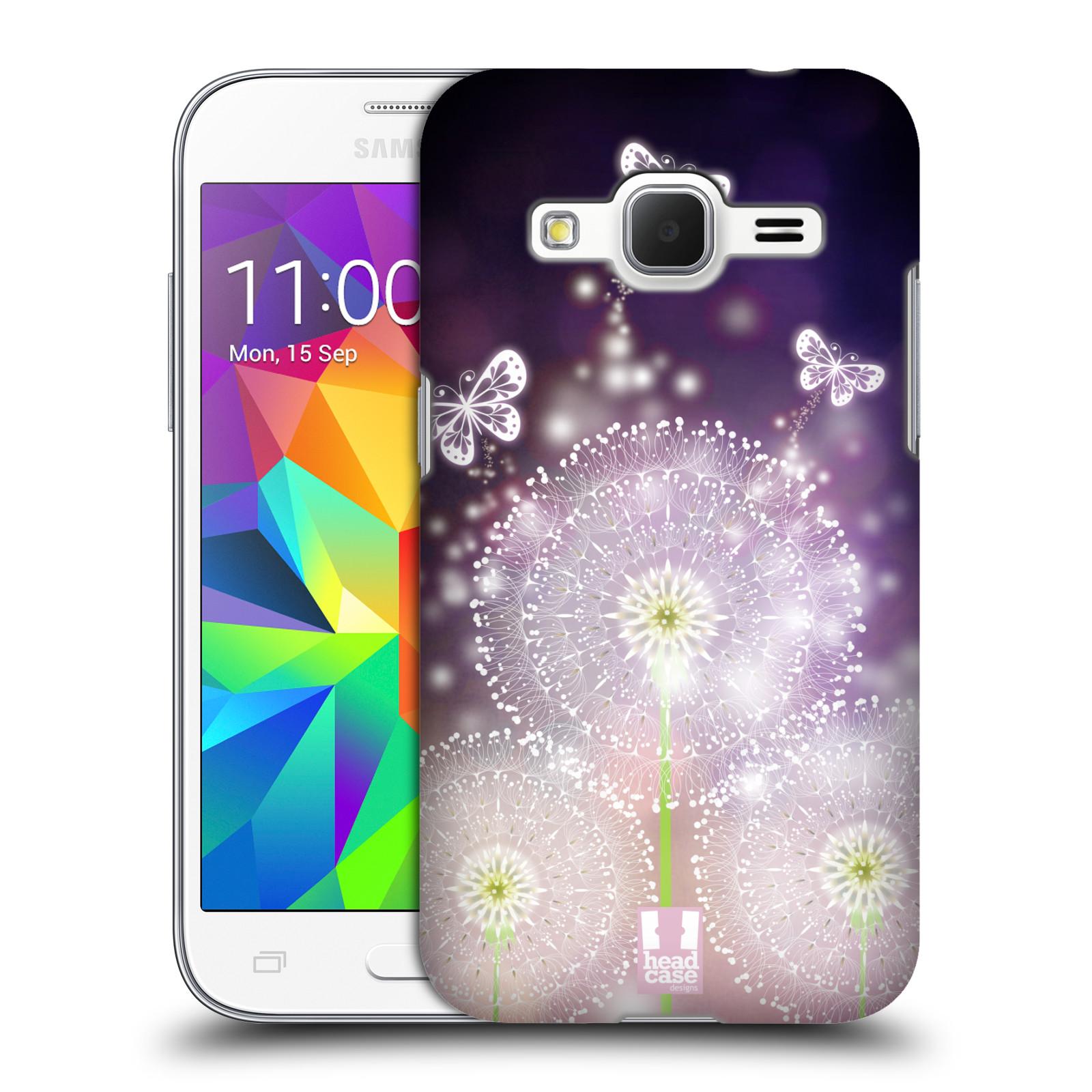 Plastové pouzdro na mobil Samsung Galaxy Core Prime LTE HEAD CASE Pampelišky a Motýlci (Kryt či obal na mobilní telefon Samsung Galaxy Core Prime LTE SM-G360)