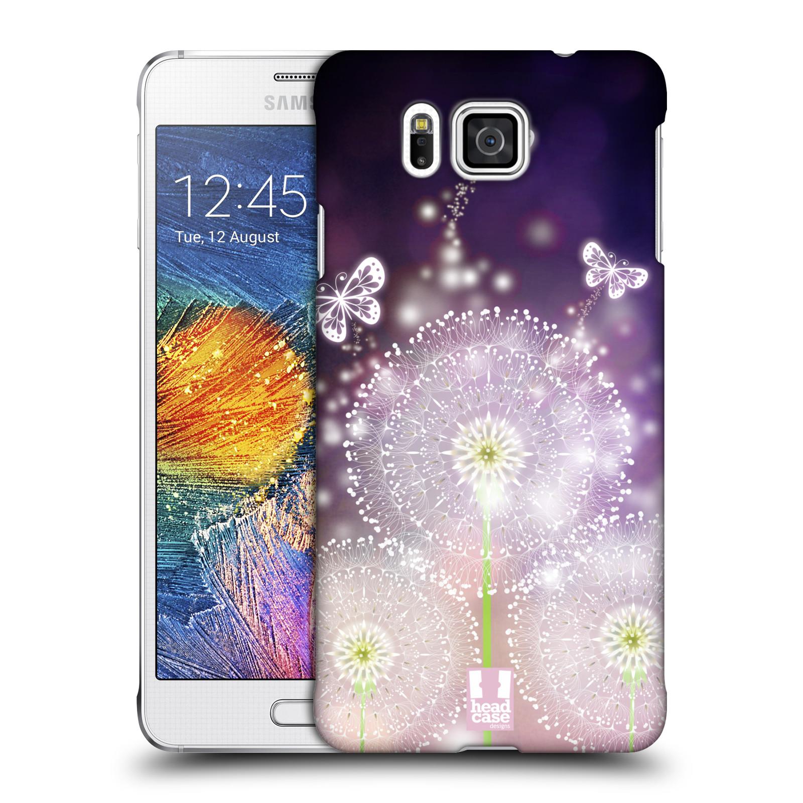 Plastové pouzdro na mobil Samsung Galaxy Alpha HEAD CASE Pampelišky a Motýlci