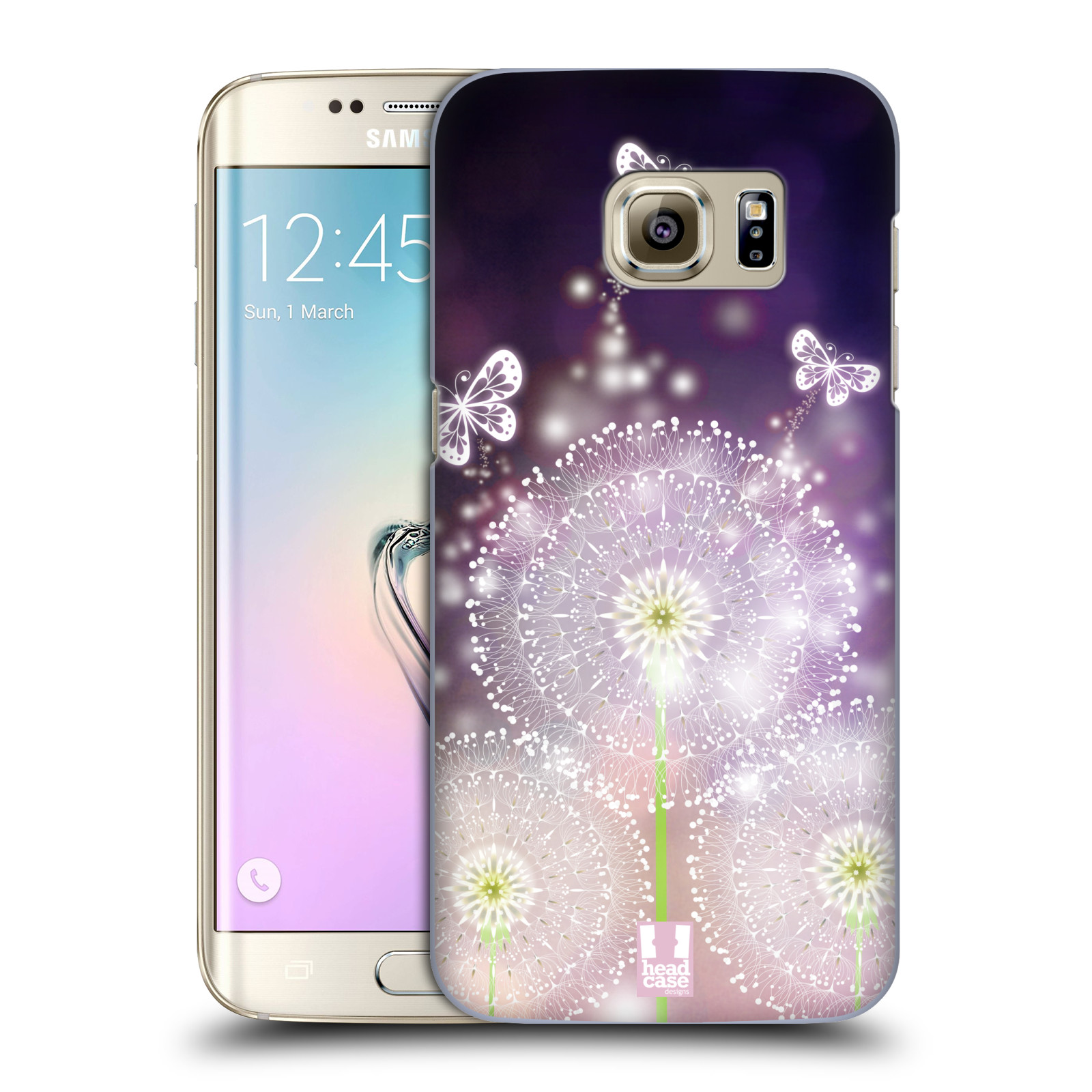 Plastové pouzdro na mobil Samsung Galaxy S7 Edge HEAD CASE Pampelišky a Motýlci (Kryt či obal na mobilní telefon Samsung Galaxy S7 Edge SM-G935F)