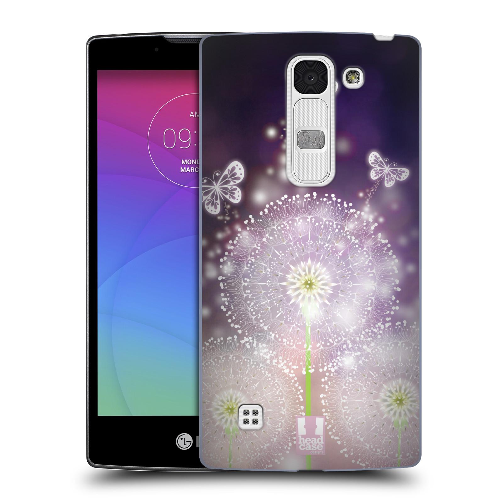 Plastové pouzdro na mobil LG Spirit LTE HEAD CASE Pampelišky a Motýlci (Kryt či obal na mobilní telefon LG Spirit H420 a LG Spirit LTE H440N)