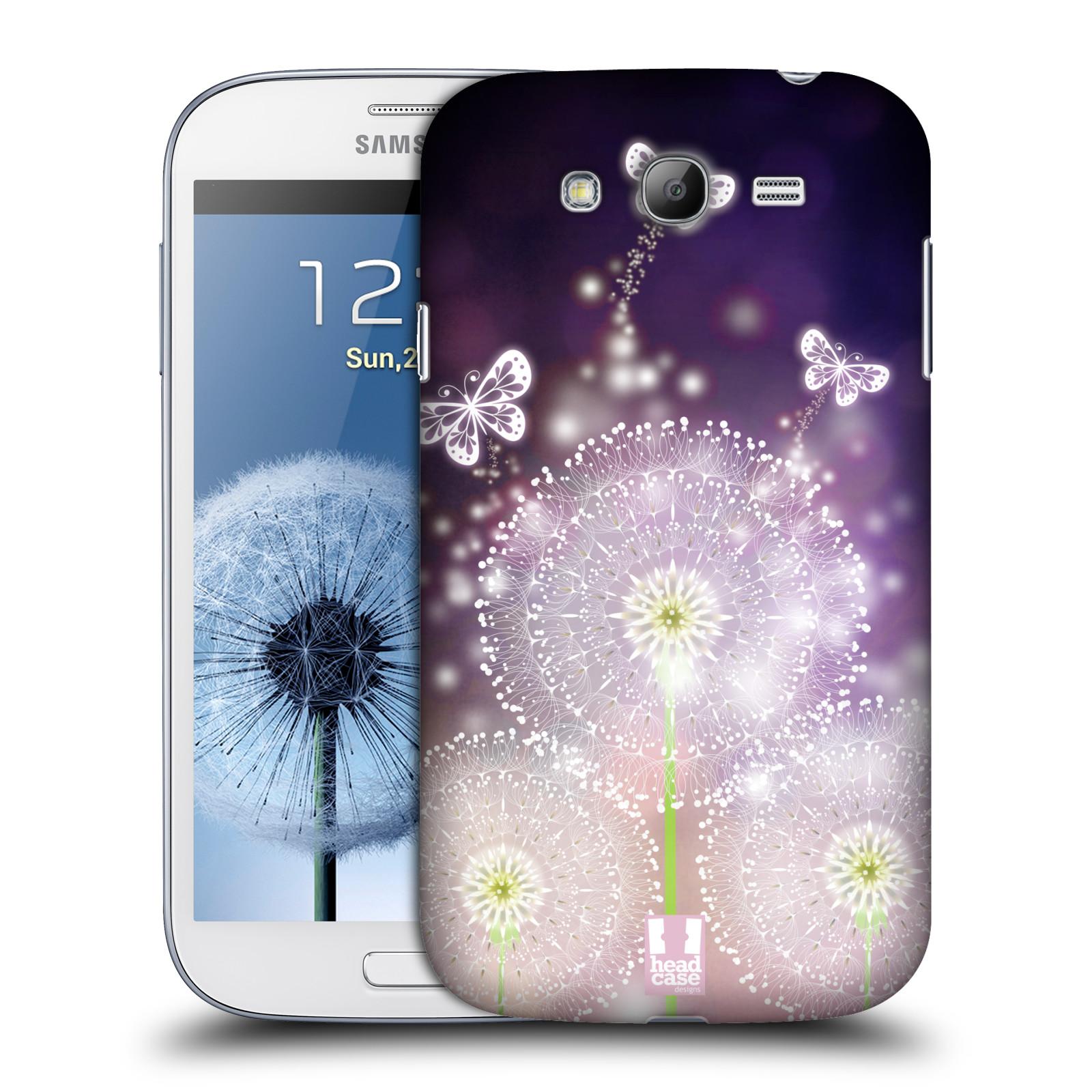 Plastové pouzdro na mobil Samsung Galaxy Grand Neo Plus HEAD CASE Pampelišky a Motýlci (Kryt či obal na mobilní telefon Samsung Galaxy Grand Neo Plus GT-i9060i)