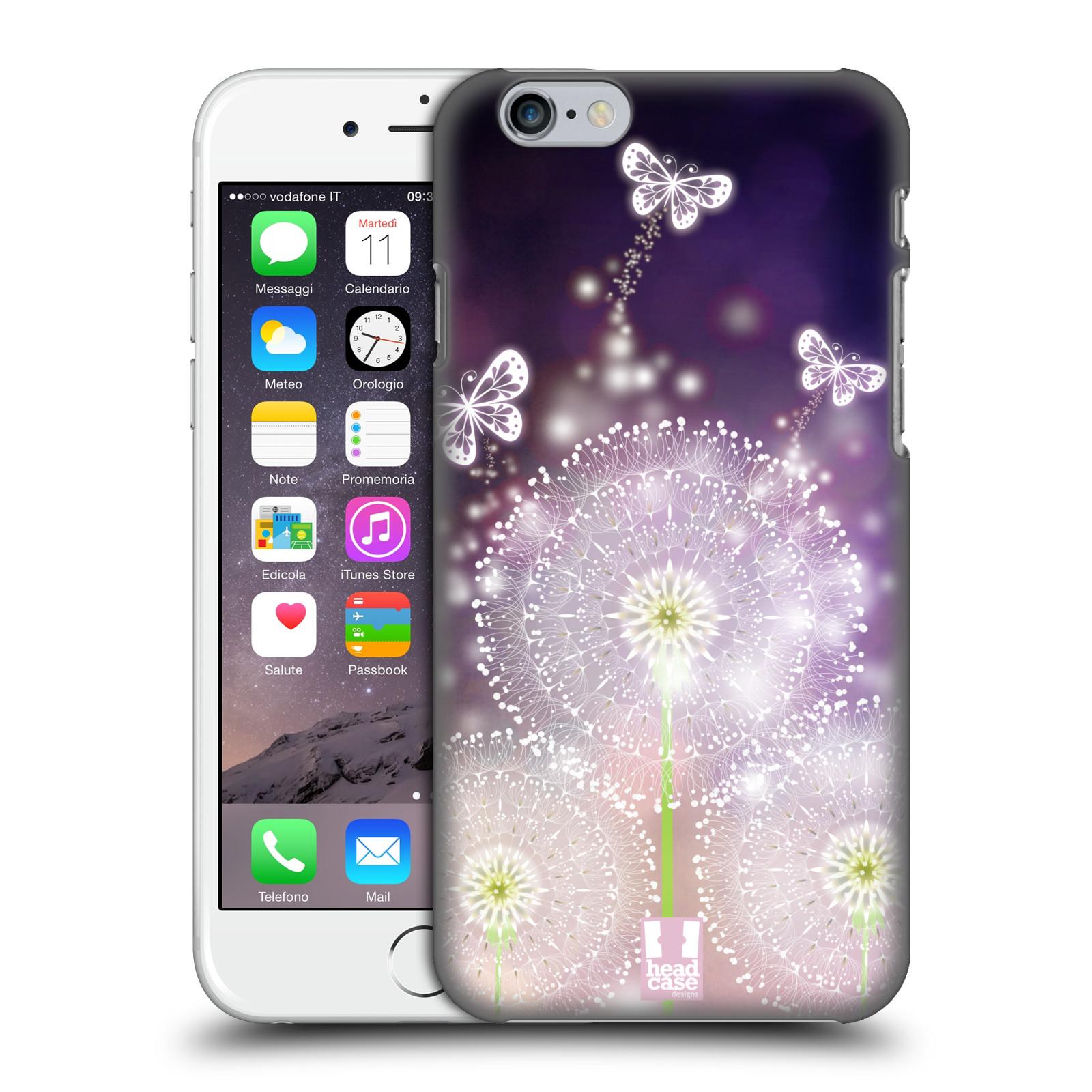 Plastové pouzdro na mobil Apple iPhone 6 HEAD CASE Pampelišky a Motýlci