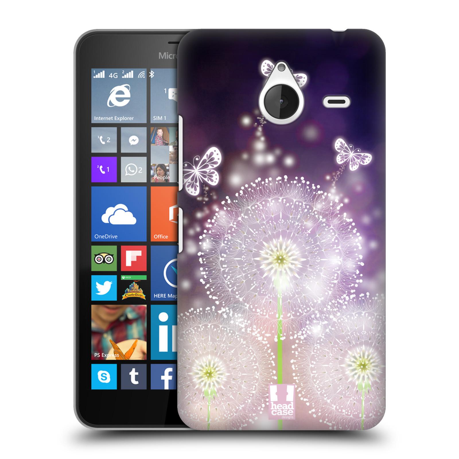 Plastové pouzdro na mobil Microsoft Lumia 640 XL HEAD CASE Pampelišky a Motýlci (Kryt či obal na mobilní telefon Microsoft Lumia 640 XL)