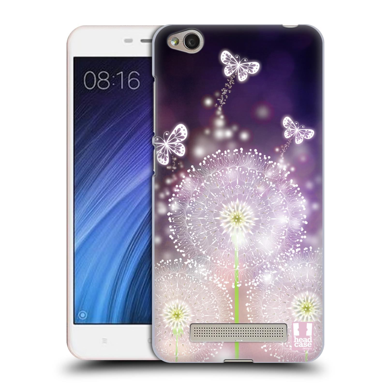 Plastové pouzdro na mobil Xiaomi Redmi 4A HEAD CASE Pampelišky a Motýlci
