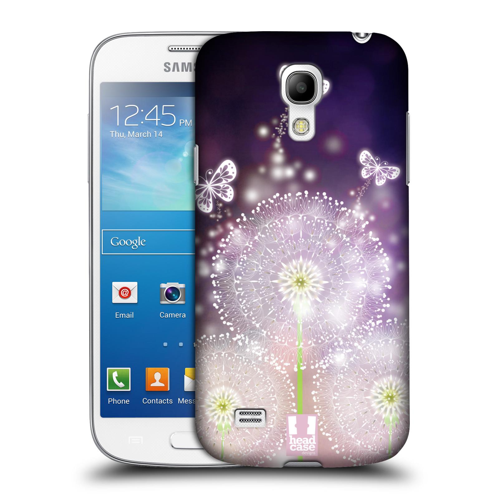 Plastové pouzdro na mobil Samsung Galaxy S4 Mini HEAD CASE Pampelišky a Motýlci (Kryt či obal na mobilní telefon Samsung Galaxy S4 Mini GT-i9195 / i9190)