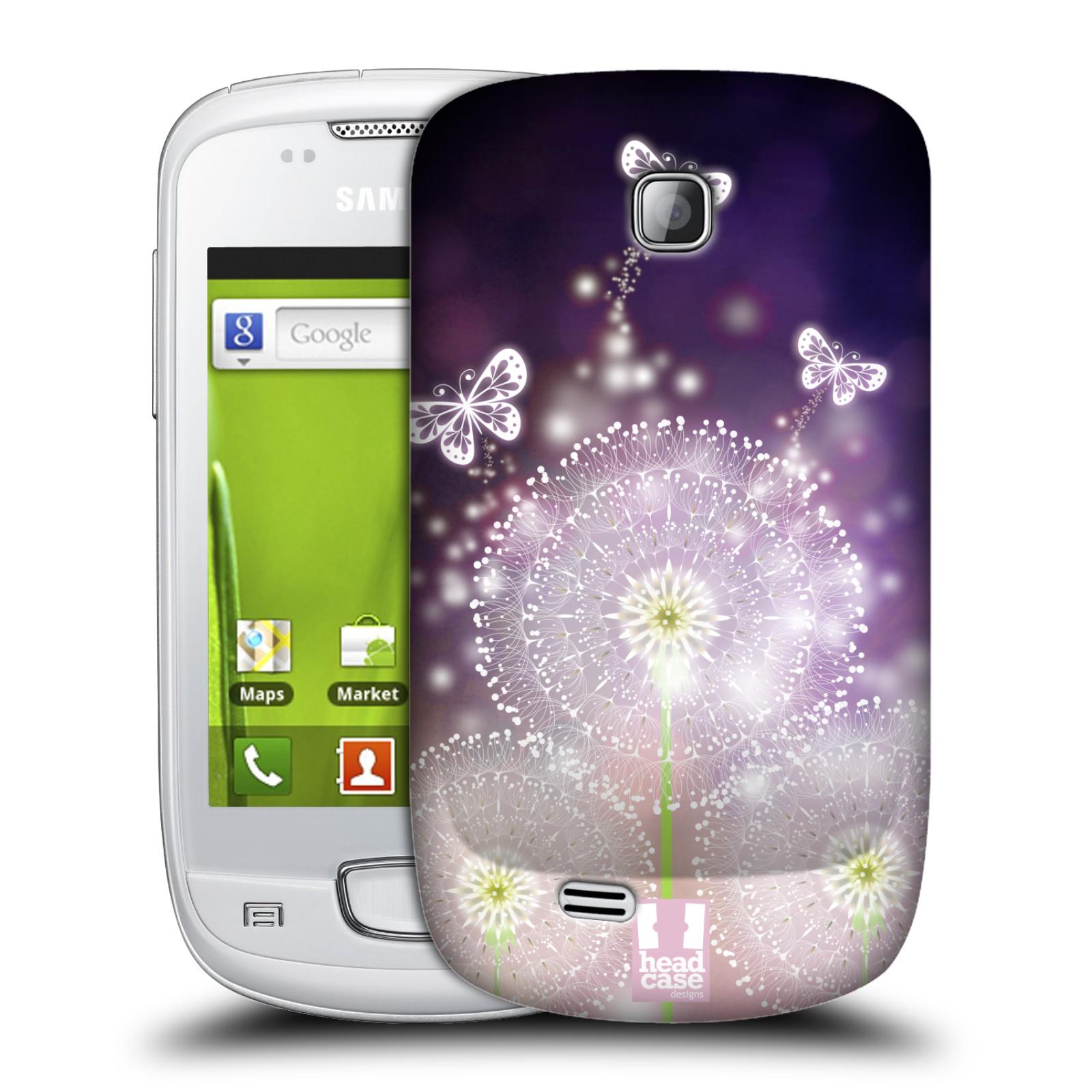Plastové pouzdro na mobil Samsung Galaxy Mini HEAD CASE Pampelišky a Motýlci (Kryt či obal na mobilní telefon Samsung Galaxy Mini GT-S5570 / GT-S5570i)