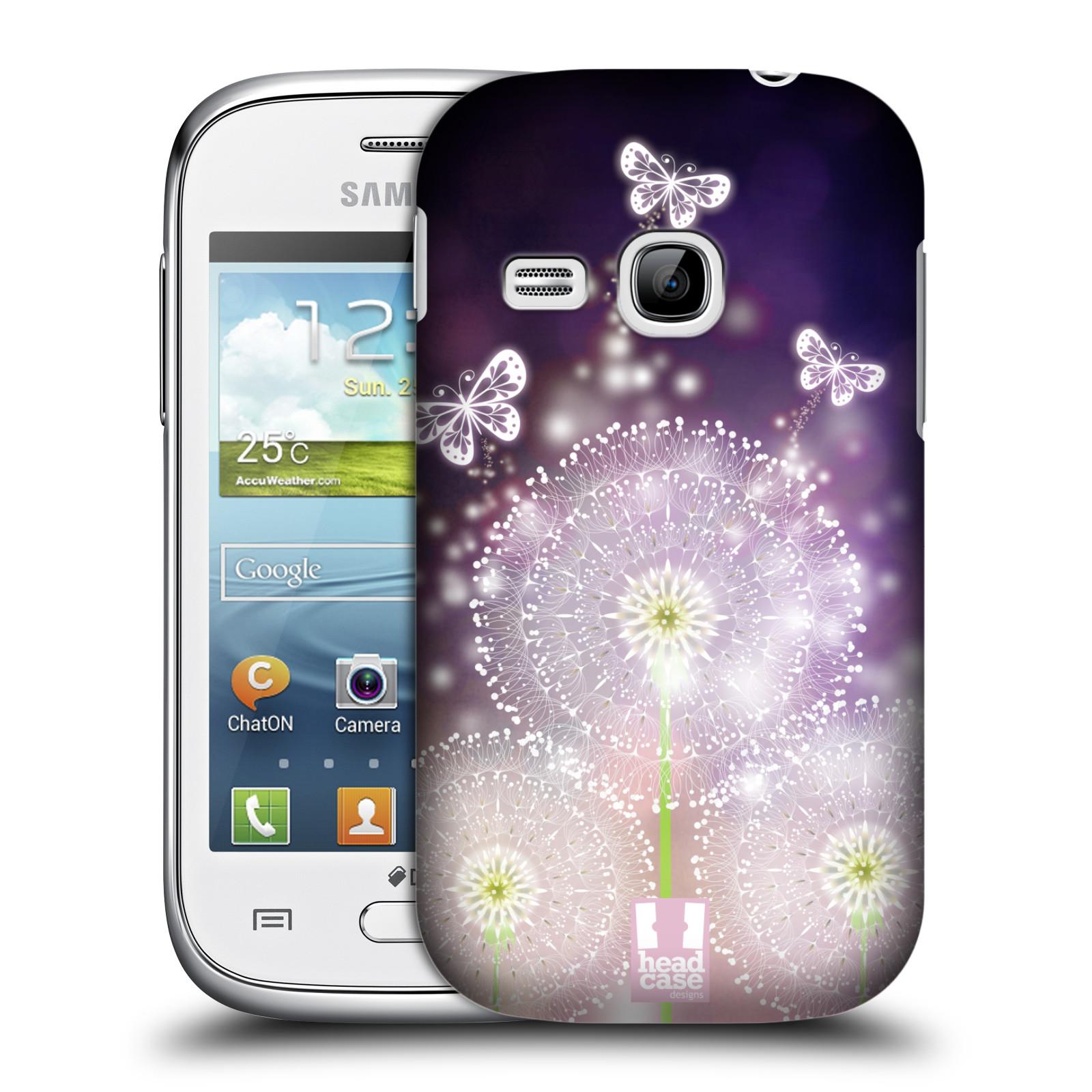 Plastové pouzdro na mobil Samsung Galaxy Young HEAD CASE Pampelišky a Motýlci (Kryt či obal na mobilní telefon Samsung Galaxy Young GT-S6310)