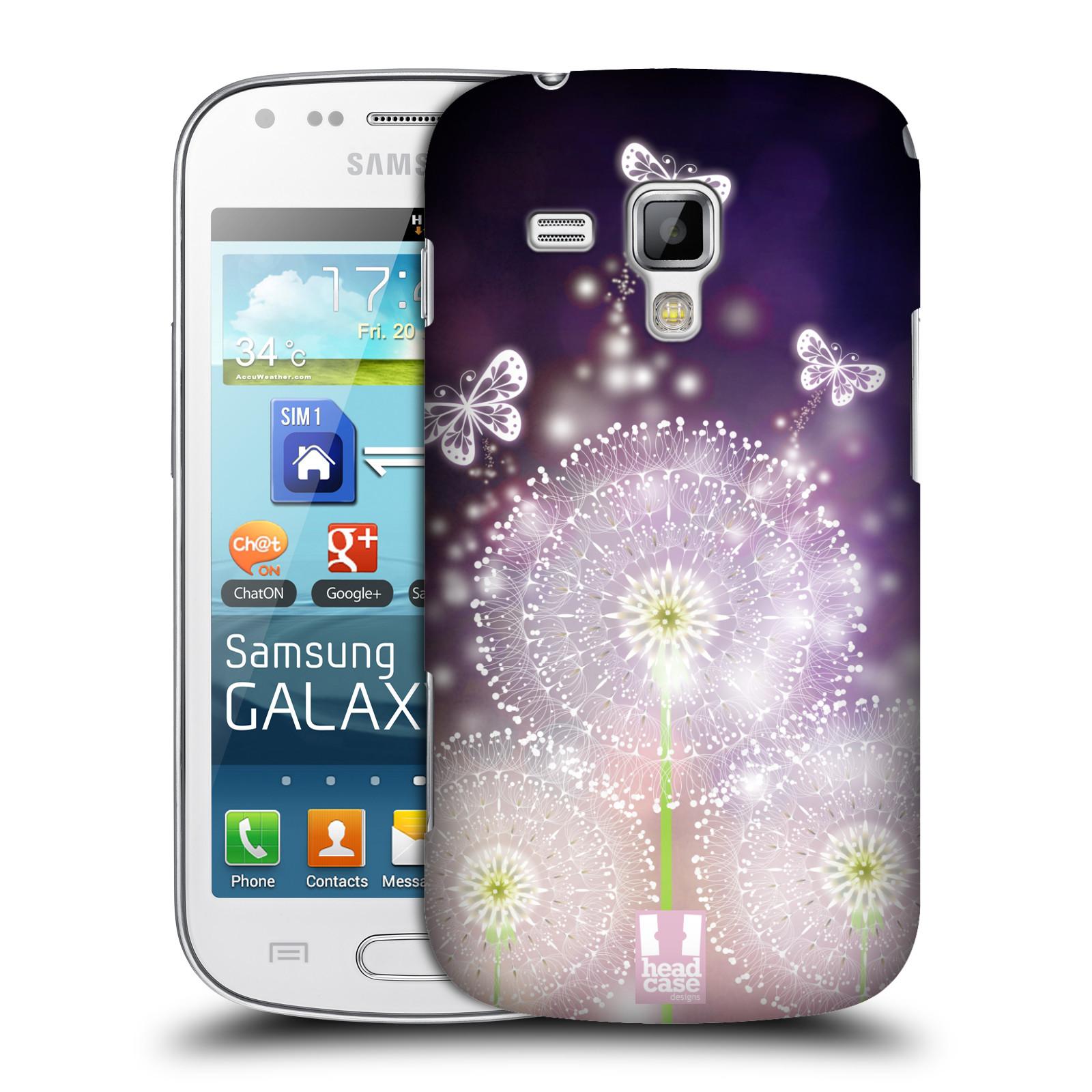 Plastové pouzdro na mobil Samsung Galaxy Trend Plus HEAD CASE Pampelišky a Motýlci (Kryt či obal na mobilní telefon Samsung Galaxy Trend Plus GT-S7580)