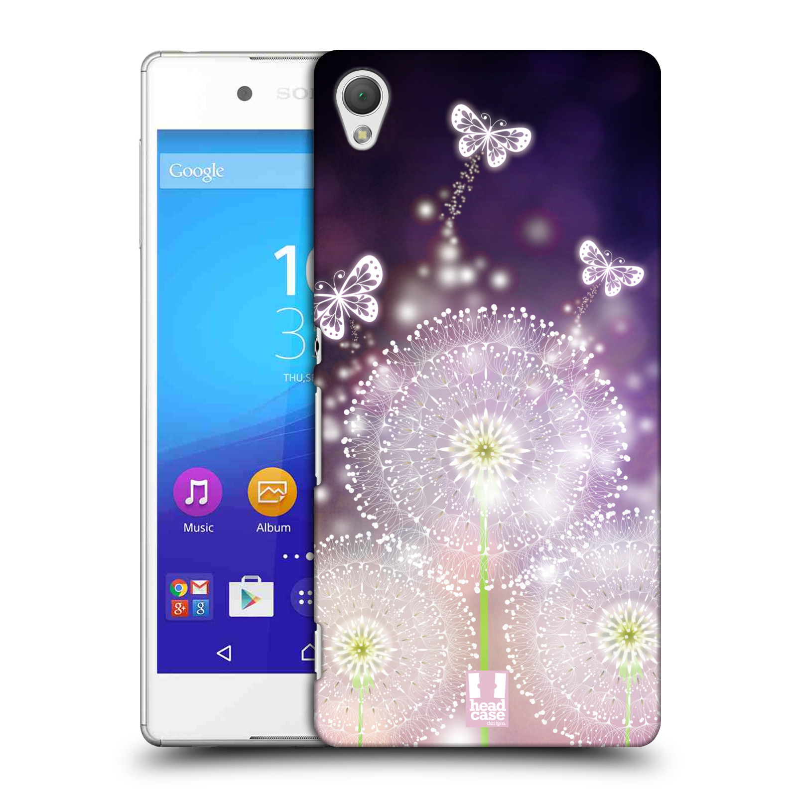 Plastové pouzdro na mobil Sony Xperia Z3+ (Plus) HEAD CASE Pampelišky a Motýlci (Kryt či obal na mobilní telefon Sony Xperia Z3+ a Sony Xperia Z4 )