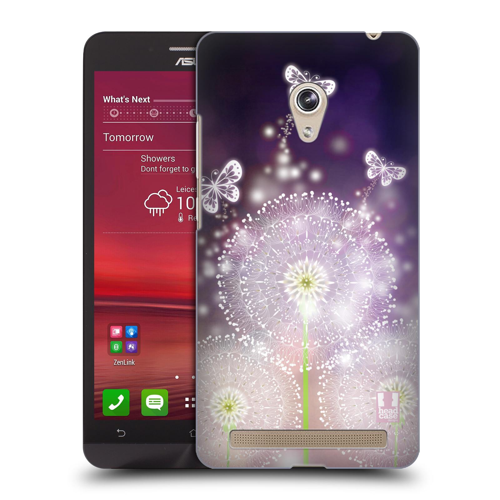 Plastové pouzdro na mobil Asus Zenfone 6 HEAD CASE Pampelišky a Motýlci (Kryt či obal na mobilní telefon Asus Zenfone 6 A600CG / A601CG)