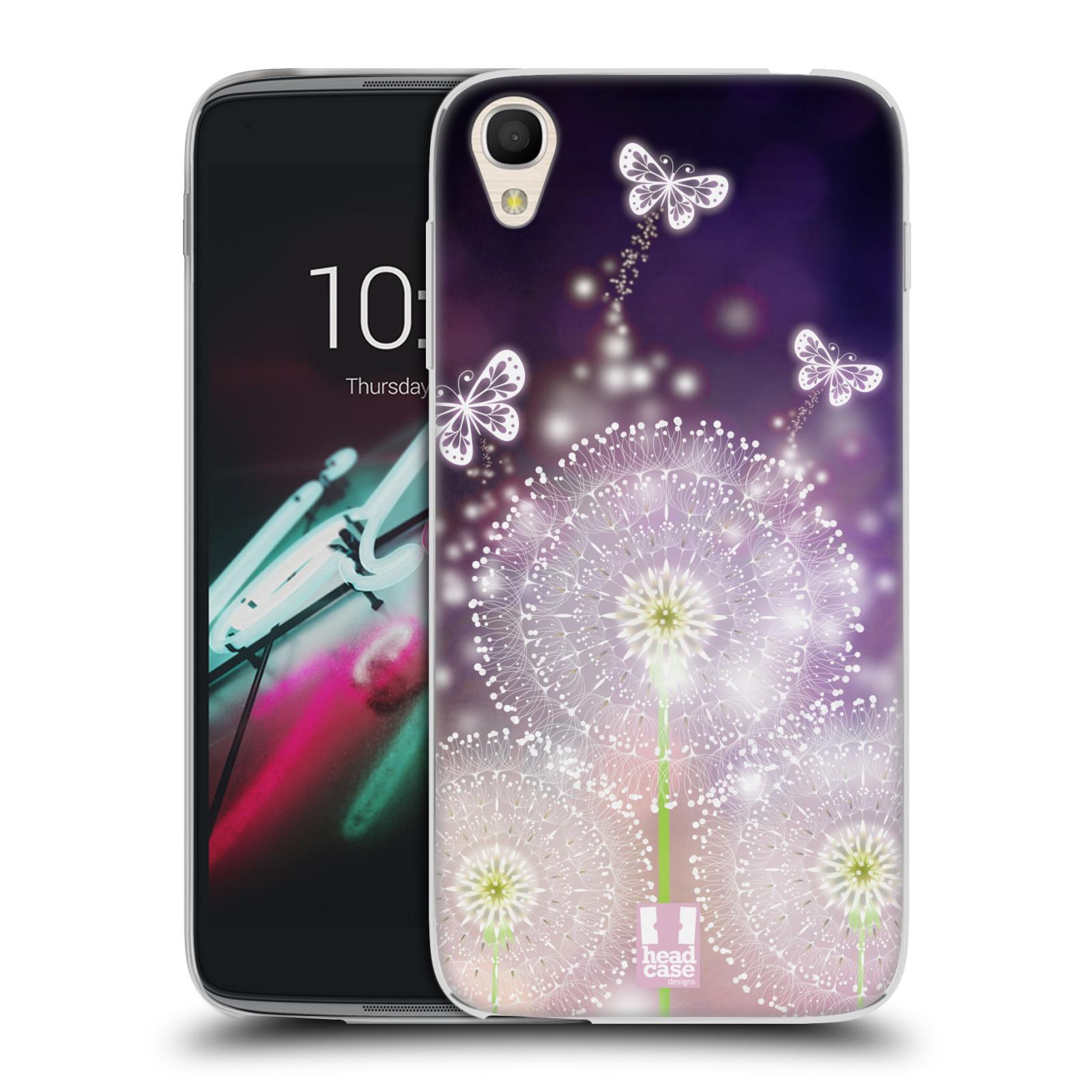 """Silikonové pouzdro na mobil Alcatel One Touch 6039Y Idol 3 HEAD CASE Pampelišky a Motýlci (Silikonový kryt či obal na mobilní telefon Alcatel One Touch Idol 3 OT-6039Y s 4,7"""" displejem)"""