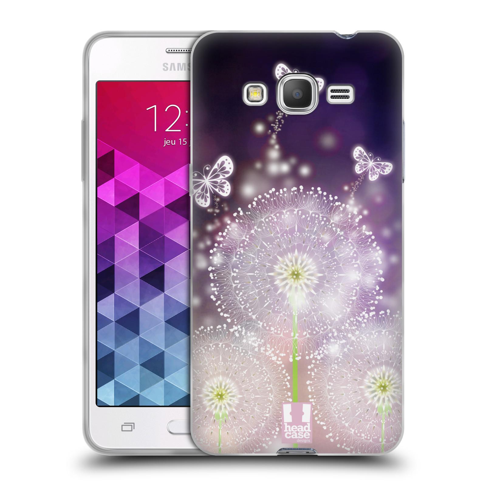 Silikonové pouzdro na mobil Samsung Galaxy Grand Prime HEAD CASE Pampelišky a Motýlci