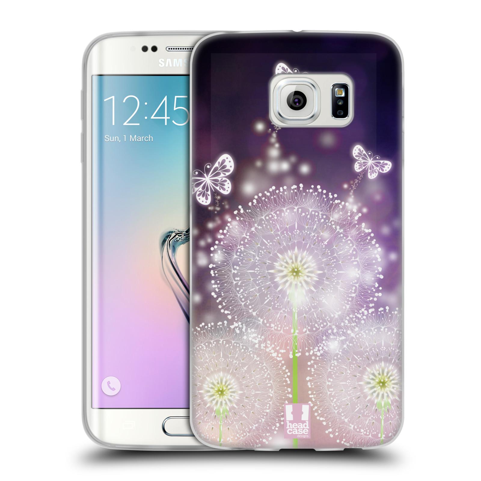 Silikonové pouzdro na mobil Samsung Galaxy S6 Edge HEAD CASE Pampelišky a Motýlci (Silikonový kryt či obal na mobilní telefon Samsung Galaxy S6 Edge SM-G925F)