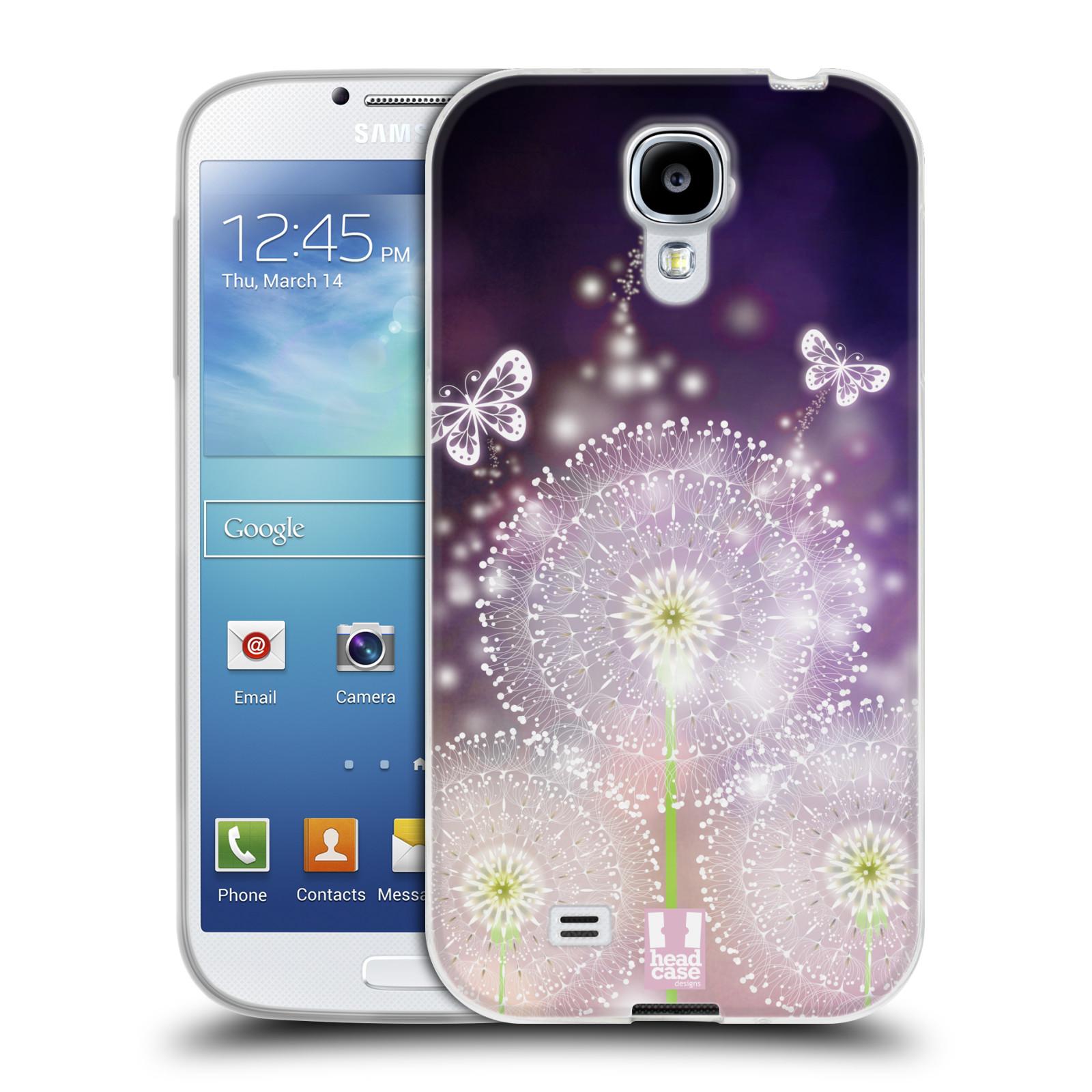 Silikonové pouzdro na mobil Samsung Galaxy S4 HEAD CASE Pampelišky a Motýlci (Silikonový kryt či obal na mobilní telefon Samsung Galaxy S4 GT-i9505 / i9500)