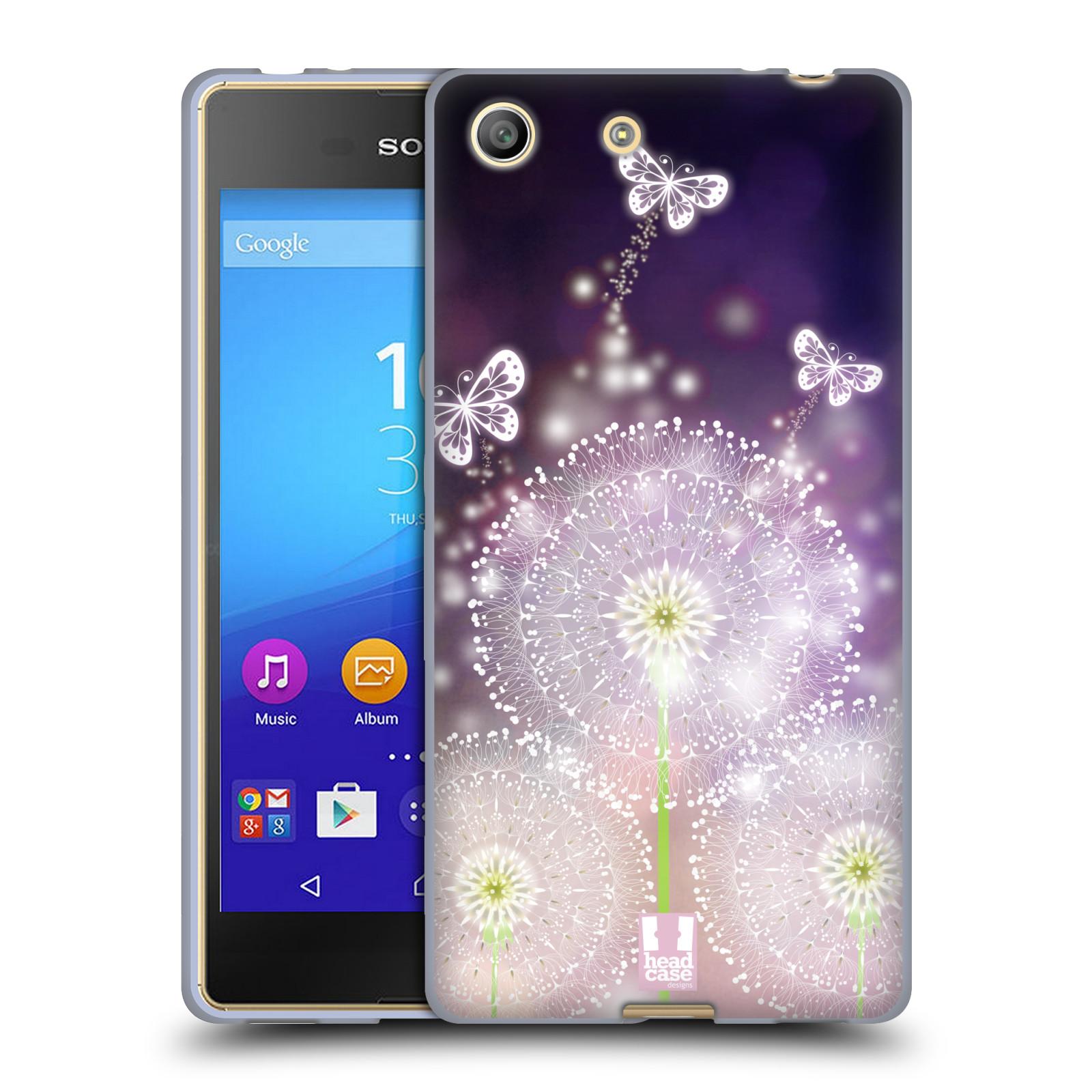 Silikonové pouzdro na mobil Sony Xperia M5 HEAD CASE Pampelišky a Motýlci (Silikonový kryt či obal na mobilní telefon Sony Xperia M5 Dual SIM / Aqua)