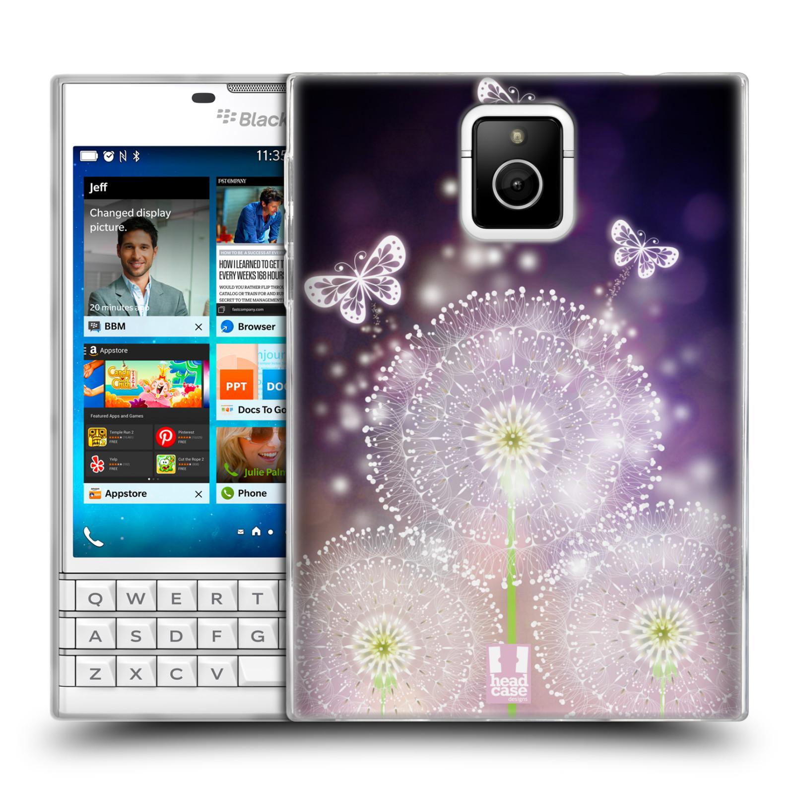 Silikonové pouzdro na mobil Blackberry PASSPORT HEAD CASE Pampelišky a Motýlci (Silikonový kryt či obal na mobilní telefon Blackberry PASSPORT)