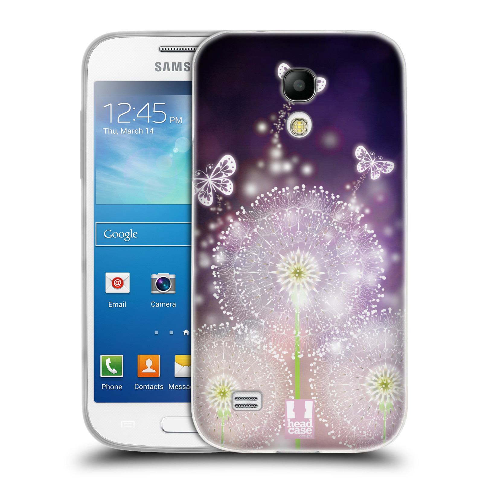 Silikonové pouzdro na mobil Samsung Galaxy S4 Mini HEAD CASE Pampelišky a Motýlci (Silikonový kryt či obal na mobilní telefon Samsung Galaxy S4 Mini GT-i9195 / i9190)