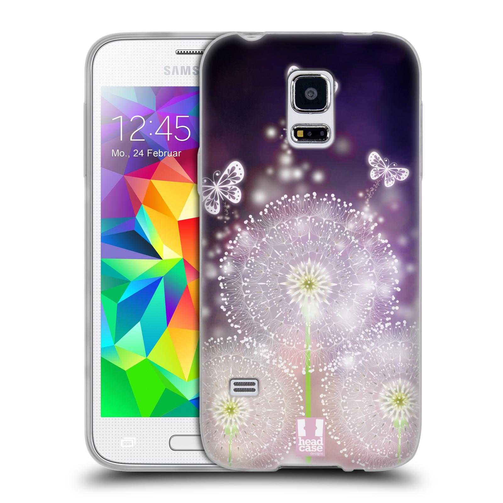 Silikonové pouzdro na mobil Samsung Galaxy S5 Mini HEAD CASE Pampelišky a Motýlci (Silikonový kryt či obal na mobilní telefon Samsung Galaxy S5 Mini SM-G800F)