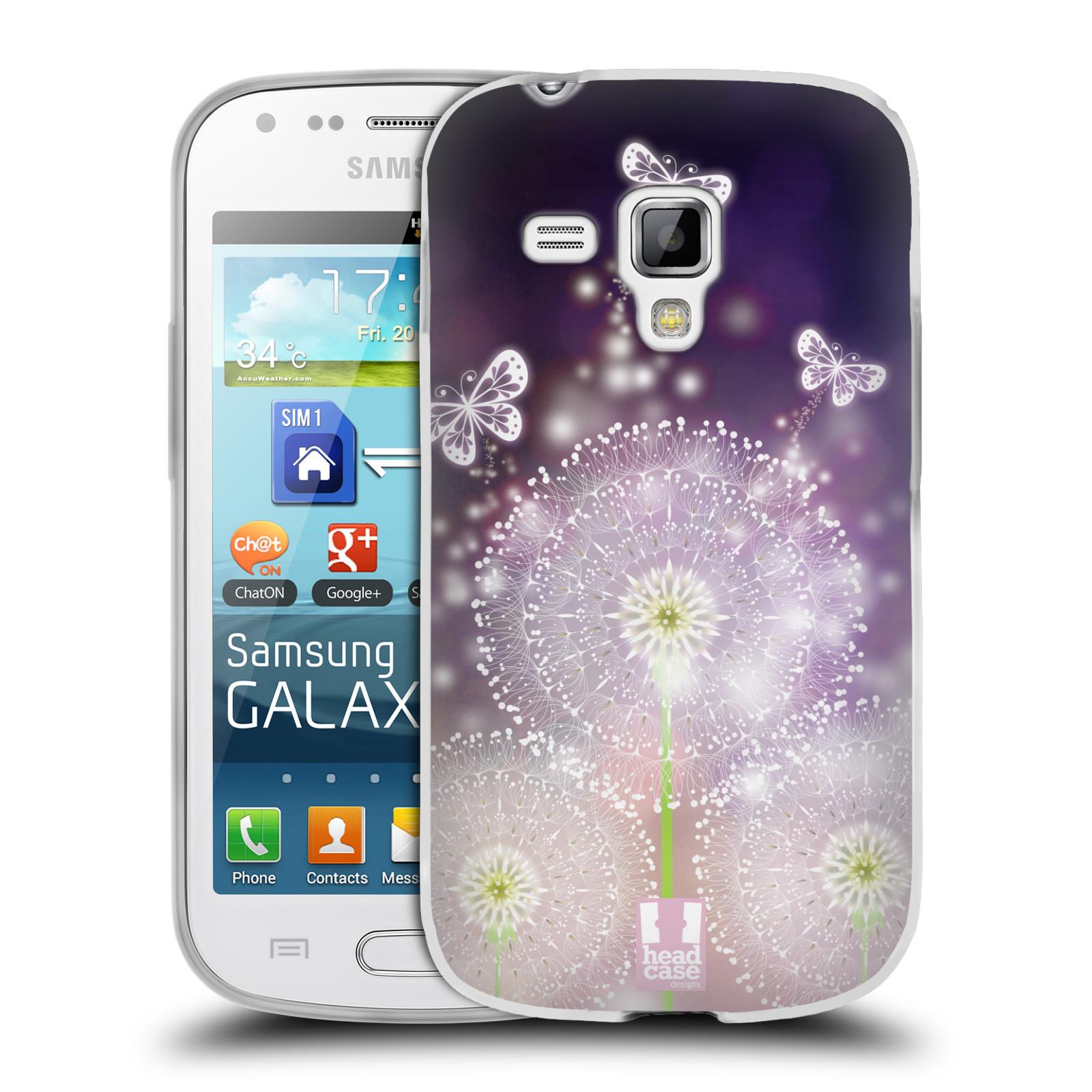 Silikonové pouzdro na mobil Samsung Galaxy S Duos HEAD CASE Pampelišky a Motýlci (Silikonový kryt či obal na mobilní telefon Samsung Galaxy S Duos GT-S7562)