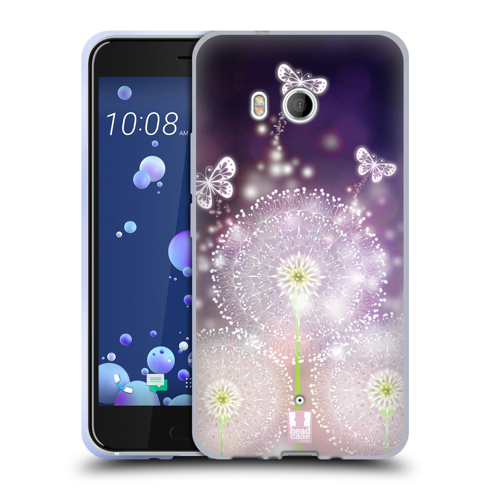 Silikonové pouzdro na mobil HTC U11 - Head Case - Pampelišky a Motýlci