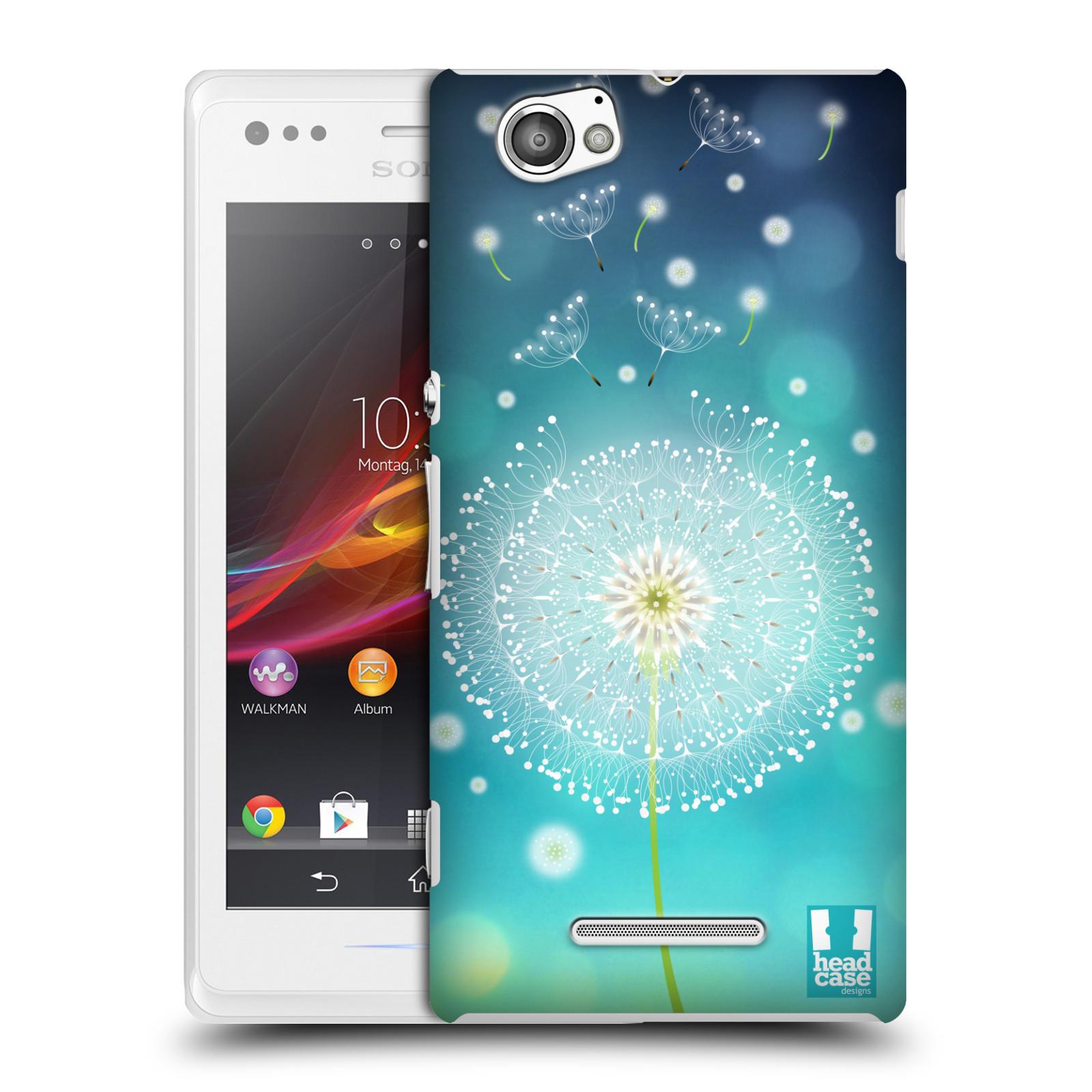 Plastové pouzdro na mobil Sony Xperia M C1905 HEAD CASE Rozlétaná pampeliška (Kryt či obal na mobilní telefon Sony Xperia M )