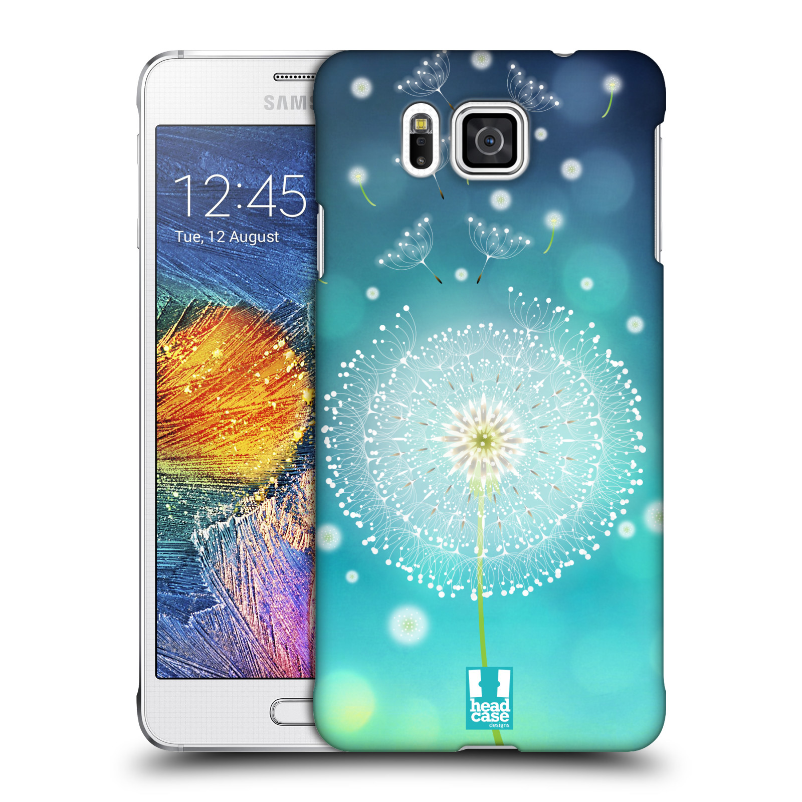 Plastové pouzdro na mobil Samsung Galaxy Alpha HEAD CASE Rozlétaná pampeliška