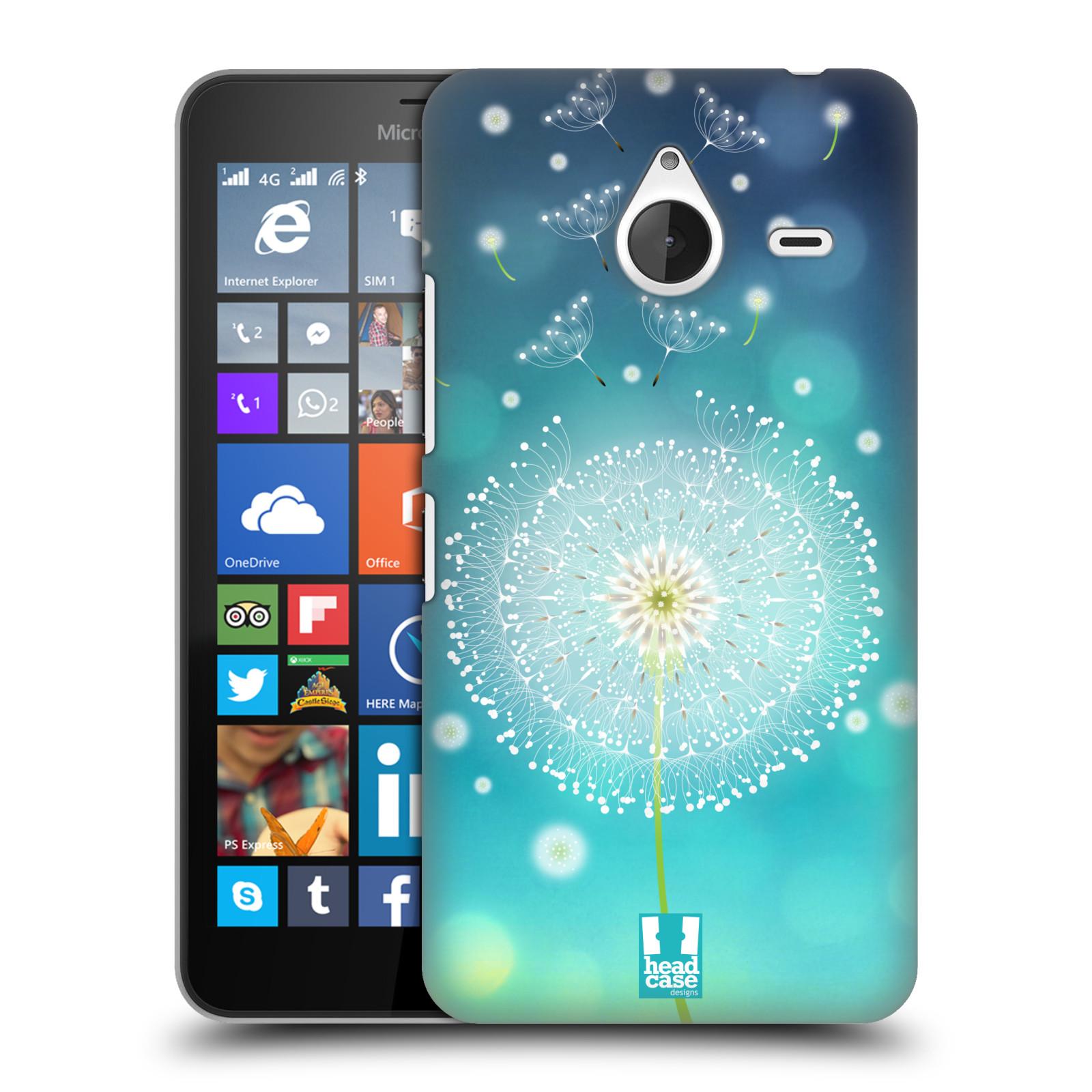 Plastové pouzdro na mobil Microsoft Lumia 640 XL HEAD CASE Rozlétaná pampeliška (Kryt či obal na mobilní telefon Microsoft Lumia 640 XL)