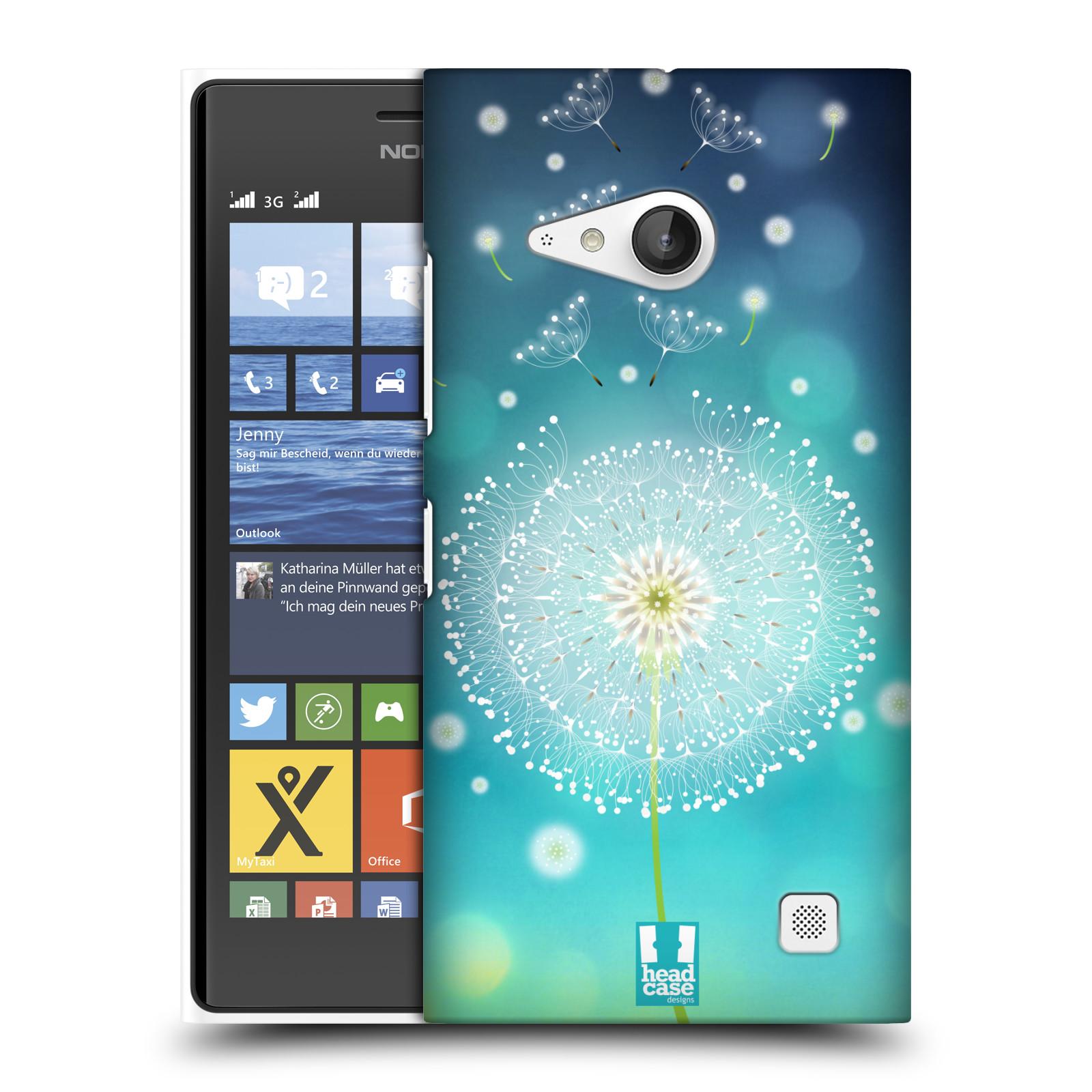 Plastové pouzdro na mobil Nokia Lumia 730 Dual SIM HEAD CASE Rozlétaná pampeliška (Kryt či obal na mobilní telefon Nokia Lumia 730 Dual SIM)
