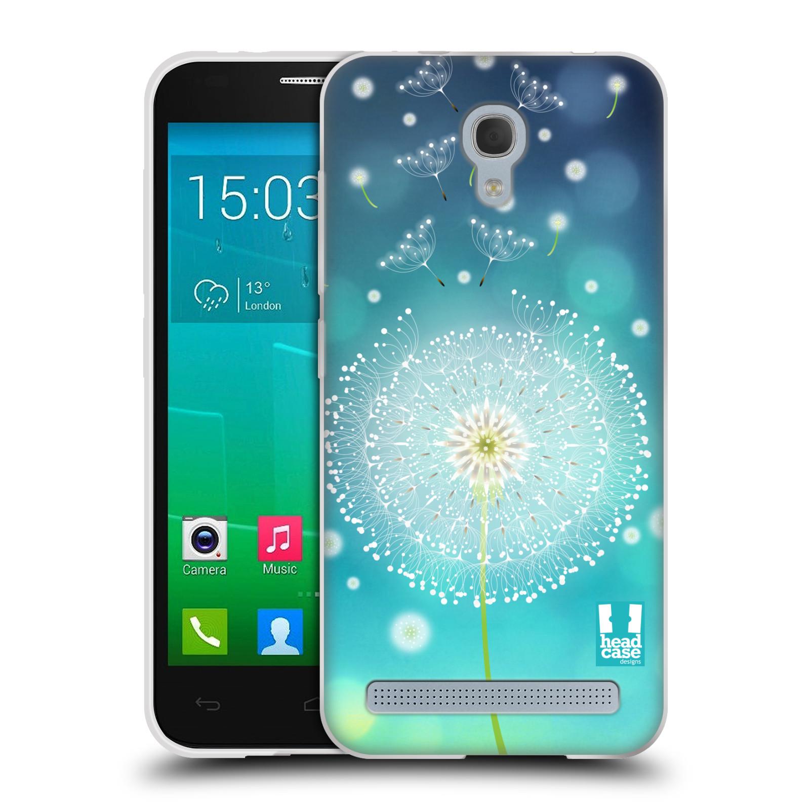 Silikonové pouzdro na mobil Alcatel One Touch Idol 2 Mini S 6036Y HEAD CASE Rozlétaná pampeliška (Silikonový kryt či obal na mobilní telefon Alcatel Idol 2 Mini S OT-6036Y)