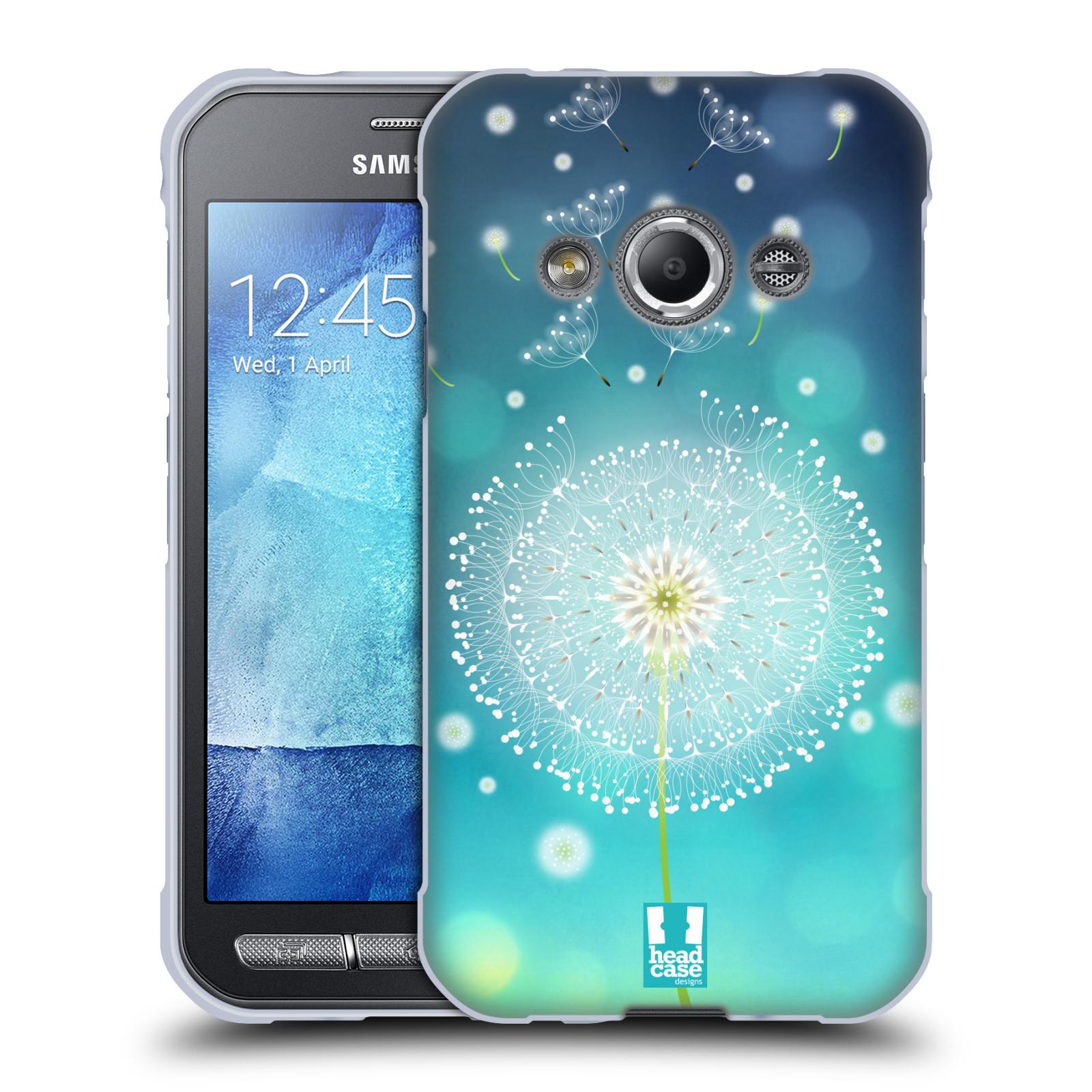 Silikonové pouzdro na mobil Samsung Galaxy Xcover 3 HEAD CASE Rozlétaná pampeliška (Silikonový kryt či obal na mobilní telefon Samsung Galaxy Xcover 3 SM-G388F)