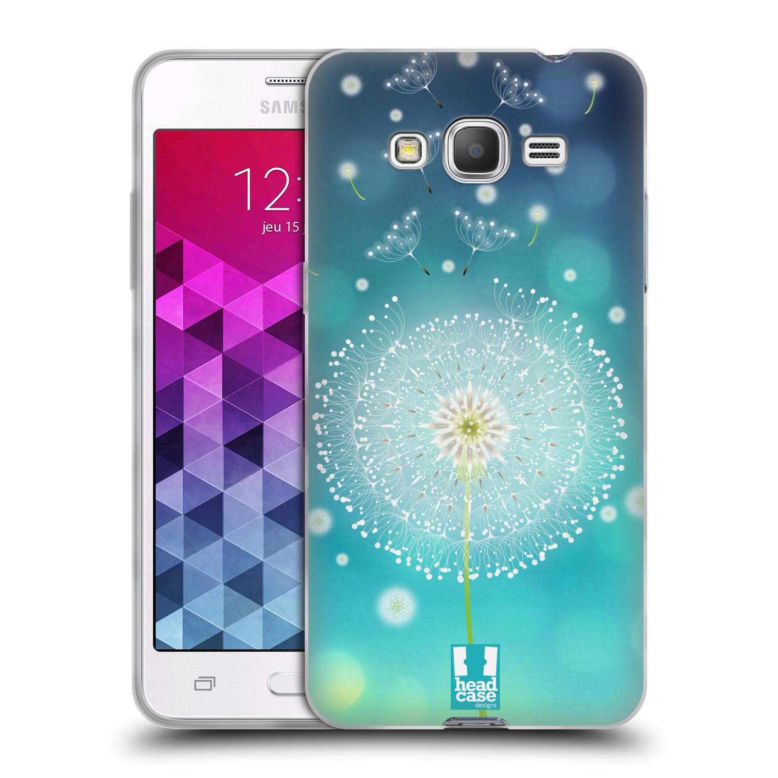 Silikonové pouzdro na mobil Samsung Galaxy Grand Prime VE HEAD CASE Rozlétaná pampeliška