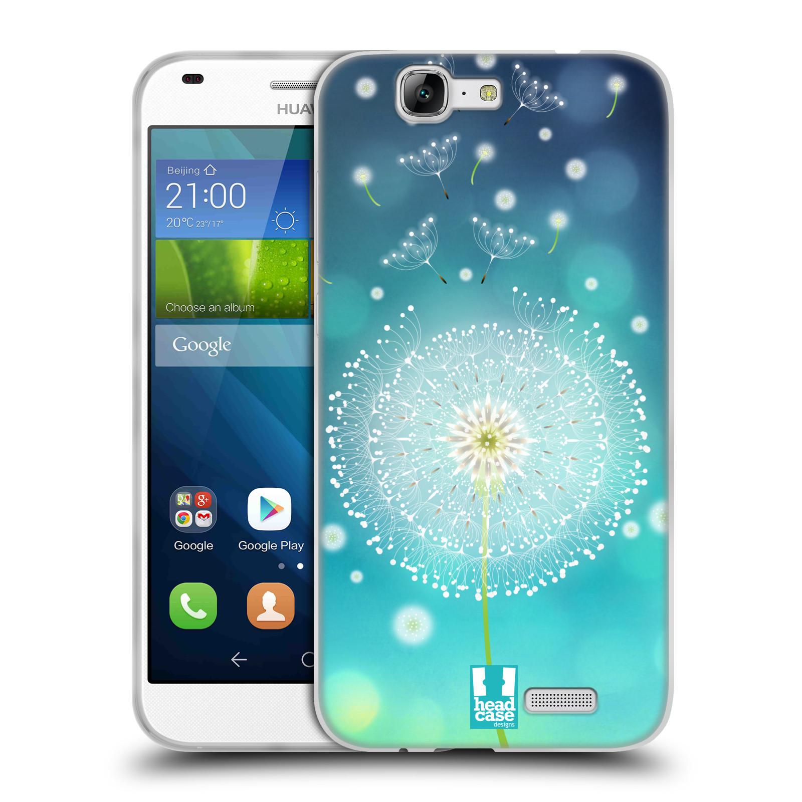 Silikonové pouzdro na mobil Huawei Ascend G7 HEAD CASE Rozlétaná pampeliška (Silikonový kryt či obal na mobilní telefon Huawei Ascend G7)