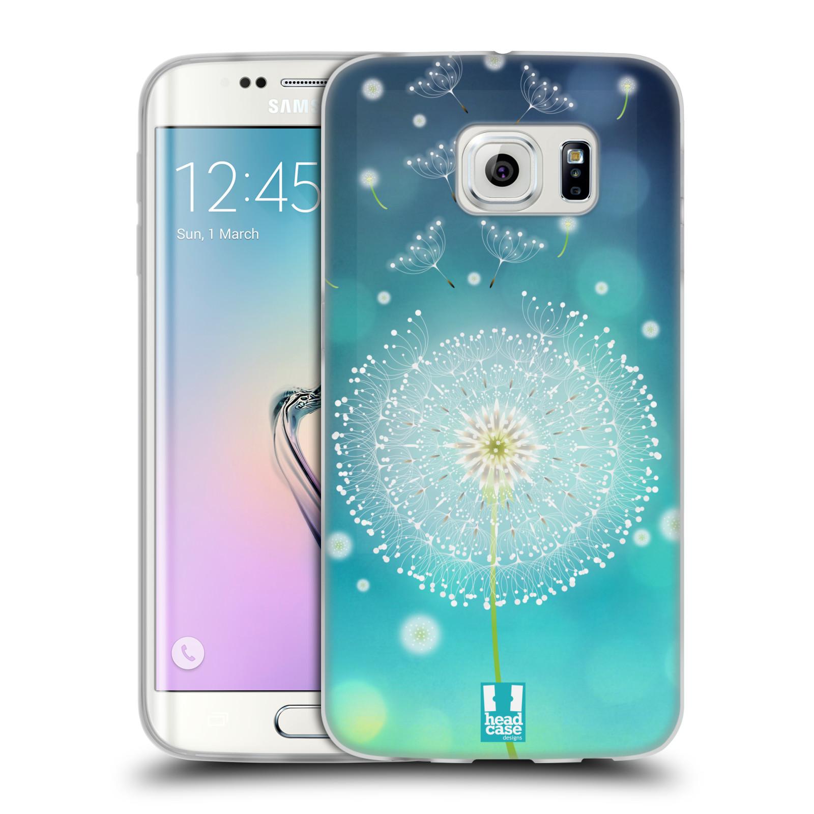 Silikonové pouzdro na mobil Samsung Galaxy S6 Edge HEAD CASE Rozlétaná pampeliška (Silikonový kryt či obal na mobilní telefon Samsung Galaxy S6 Edge SM-G925F)