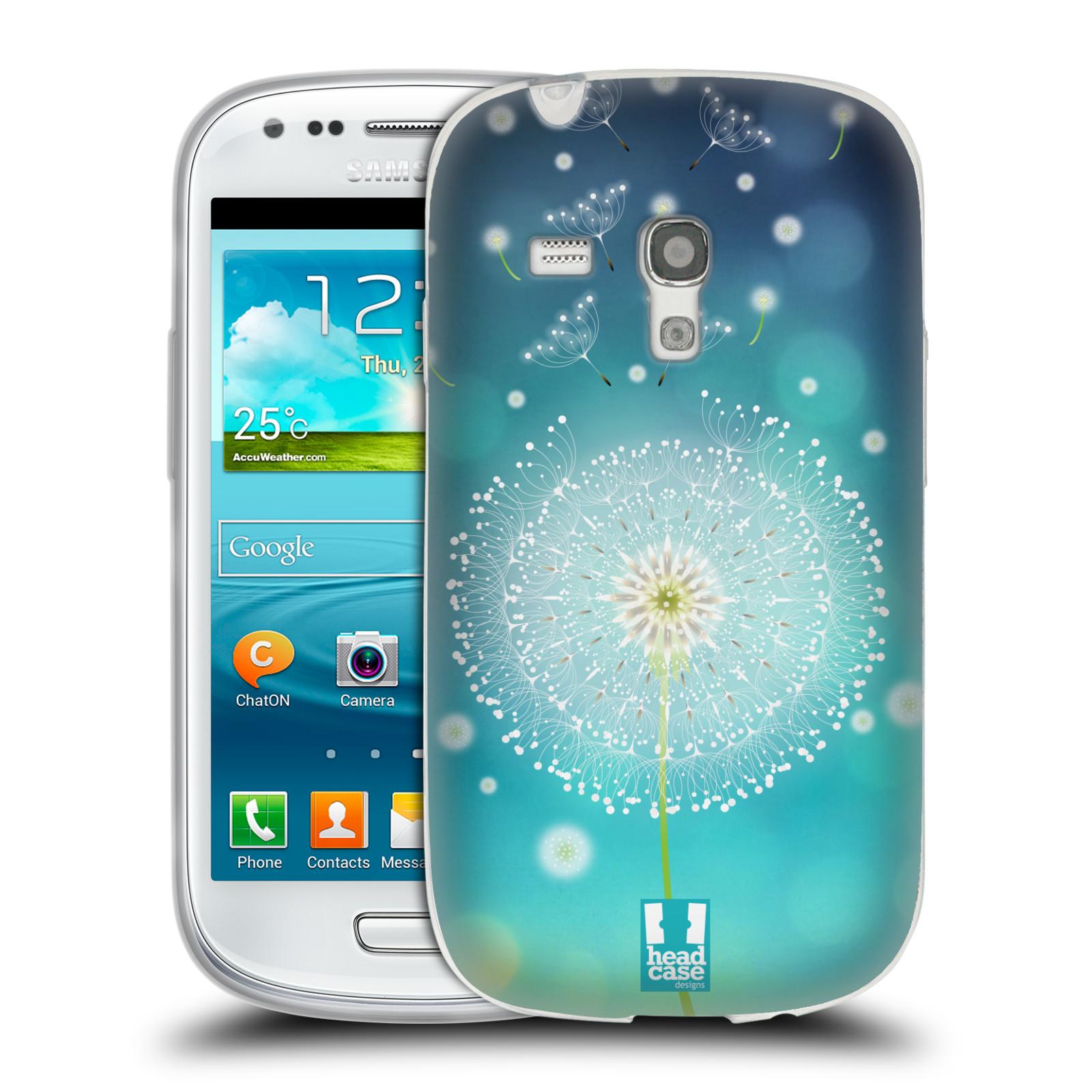 Silikonové pouzdro na mobil Samsung Galaxy S III Mini HEAD CASE Rozlétaná pampeliška (Silikonový kryt či obal na mobilní telefon Samsung Galaxy S III Mini GT-i8190)