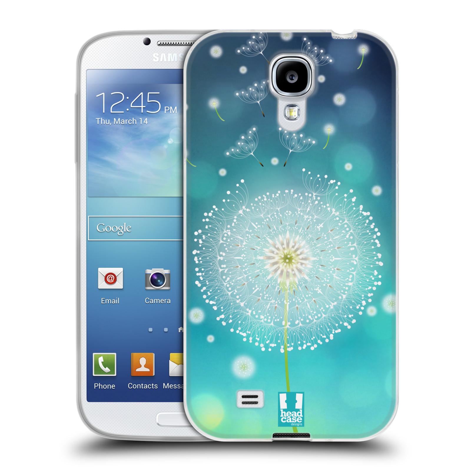 Silikonové pouzdro na mobil Samsung Galaxy S4 HEAD CASE Rozlétaná pampeliška (Silikonový kryt či obal na mobilní telefon Samsung Galaxy S4 GT-i9505 / i9500)