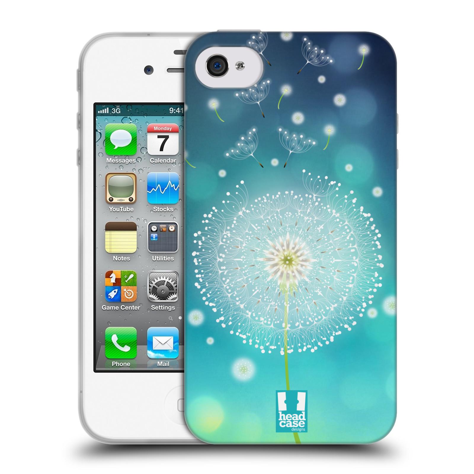 Silikonové pouzdro na mobil Apple iPhone 4 a 4S HEAD CASE Rozlétaná pampeliška (Silikonový kryt či obal na mobilní telefon Apple iPhone 4 a 4S)