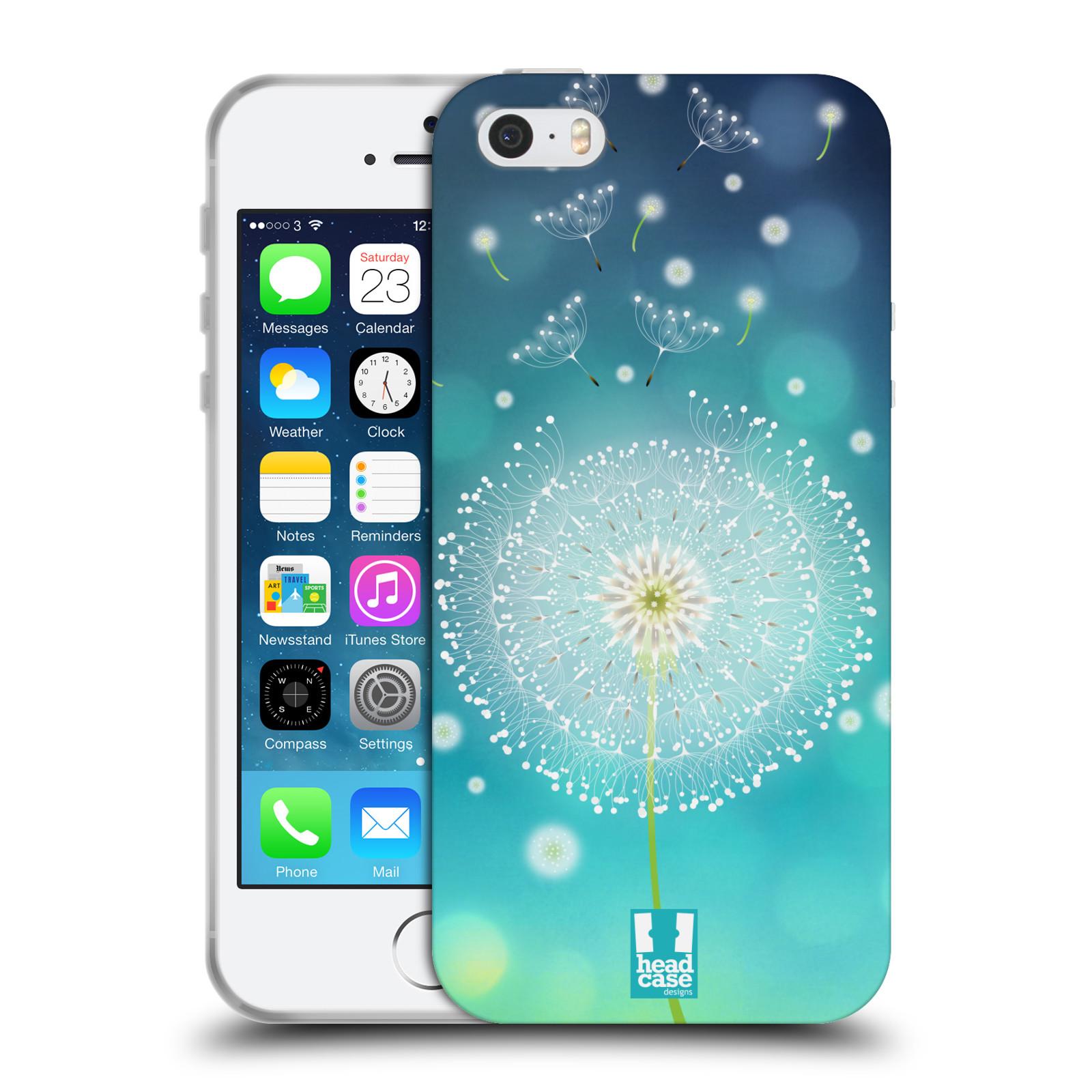 Silikonové pouzdro na mobil Apple iPhone SE, 5 a 5S HEAD CASE Rozlétaná pampeliška (Silikonový kryt či obal na mobilní telefon Apple iPhone SE, 5 a 5S)