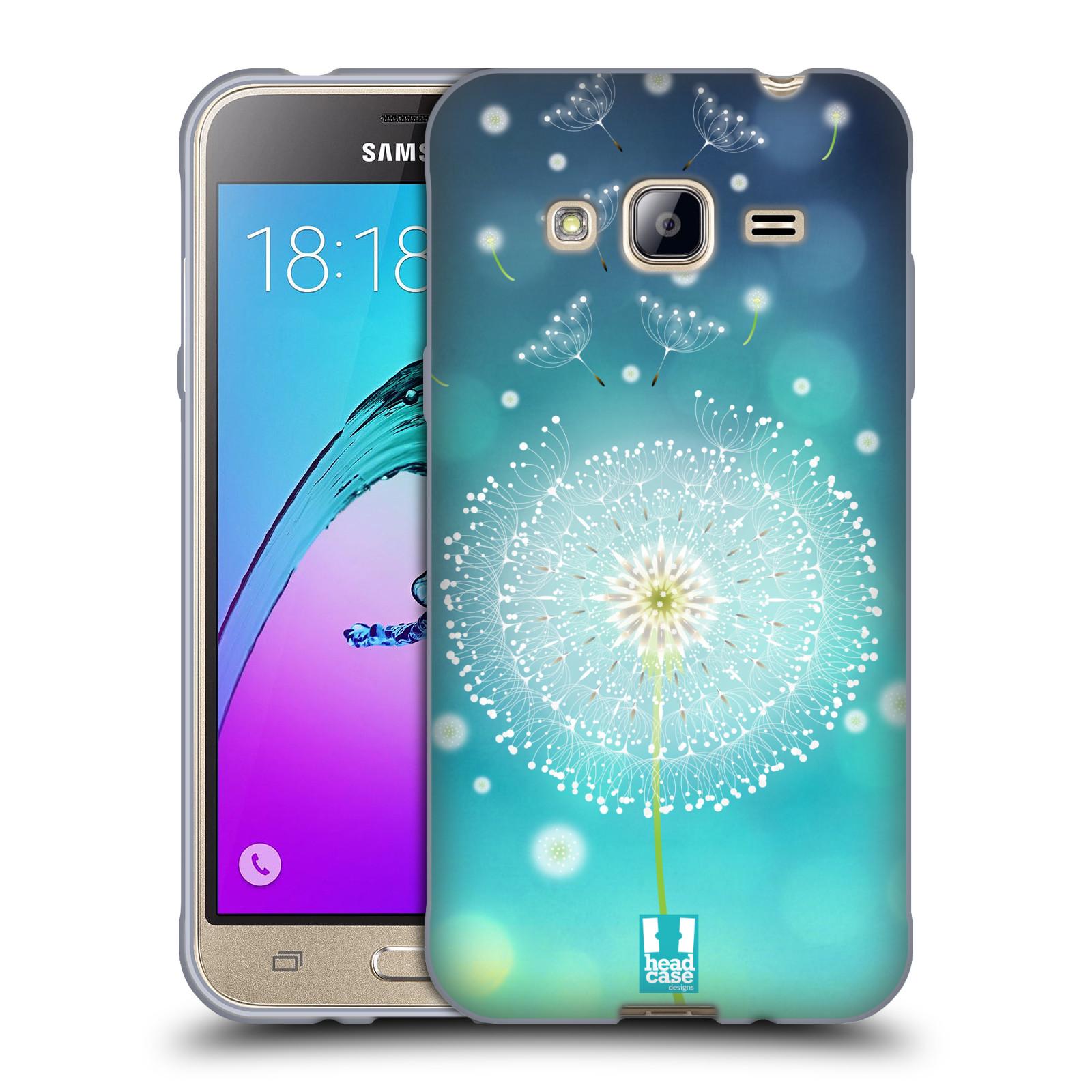 Silikonové pouzdro na mobil Samsung Galaxy J3 (2016) HEAD CASE Rozlétaná pampeliška