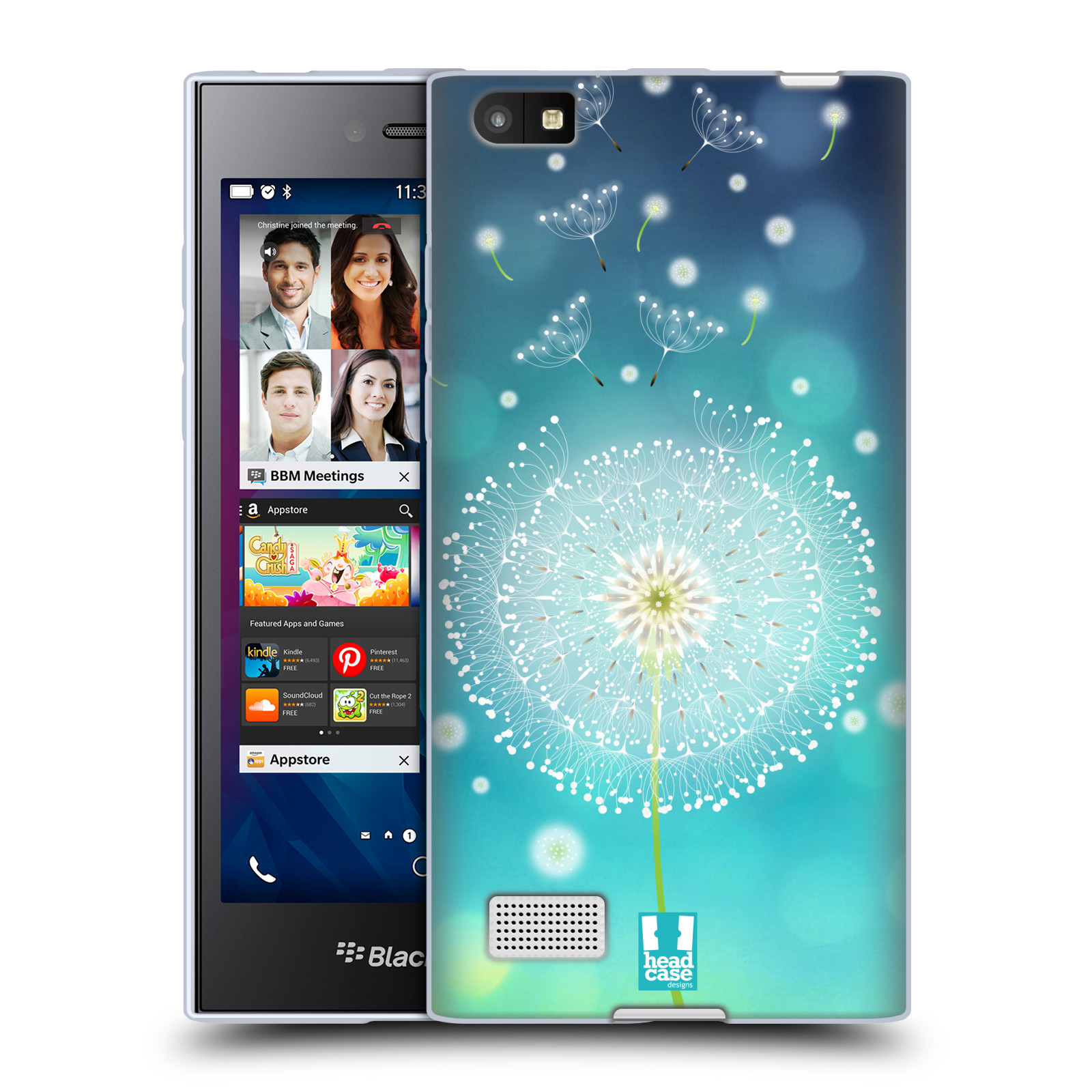Silikonové pouzdro na mobil Blackberry Leap HEAD CASE Rozlétaná pampeliška (Silikonový kryt či obal na mobilní telefon Blackberry Leap)