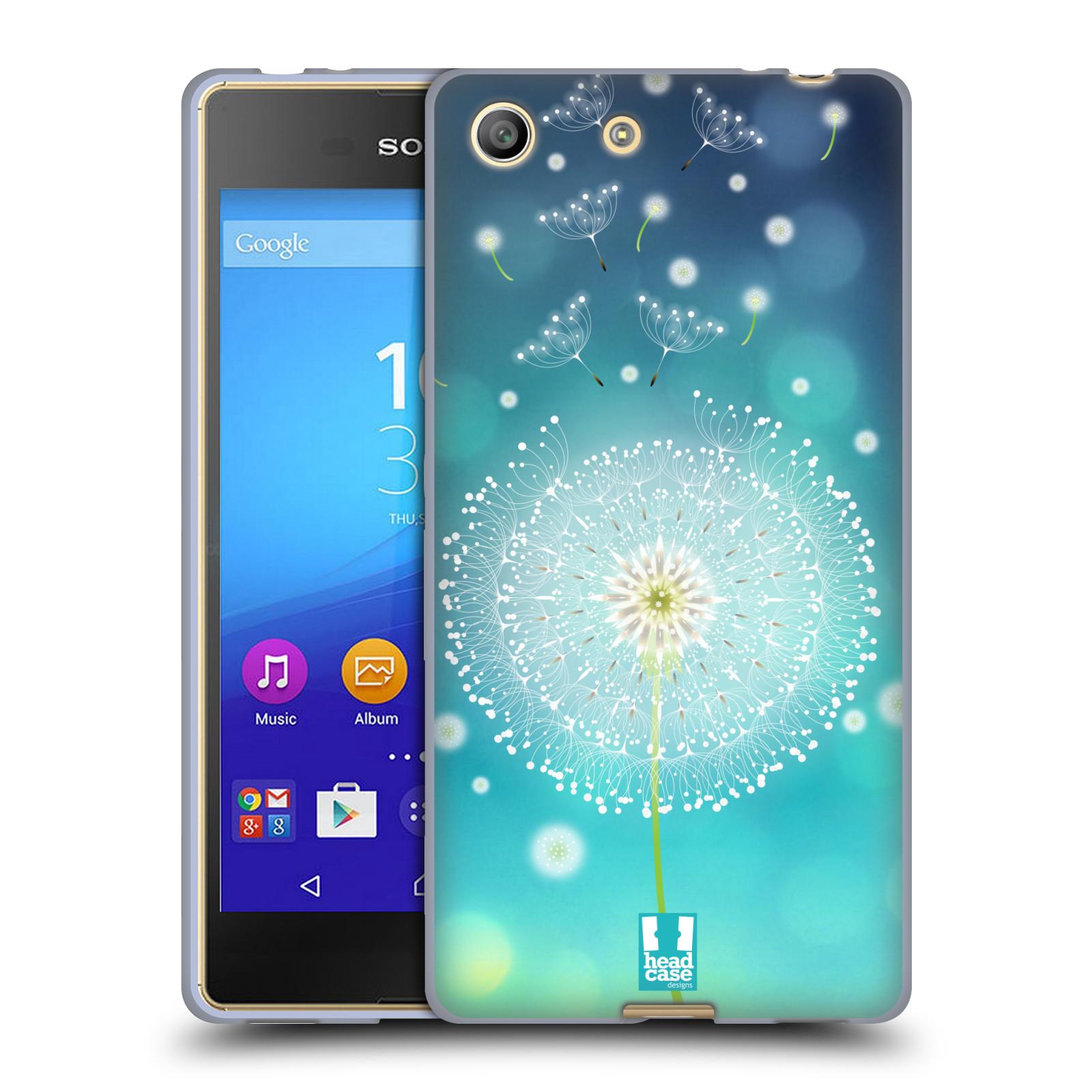 Silikonové pouzdro na mobil Sony Xperia M5 HEAD CASE Rozlétaná pampeliška (Silikonový kryt či obal na mobilní telefon Sony Xperia M5 Dual SIM / Aqua)
