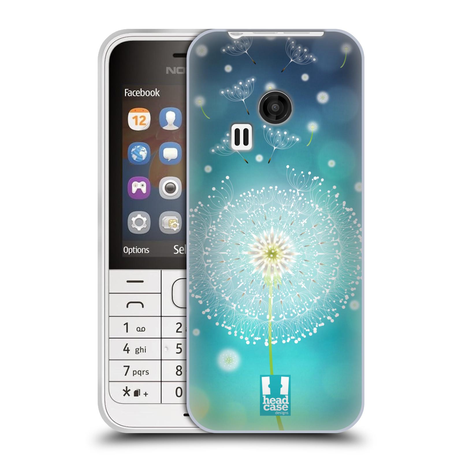 Silikonové pouzdro na mobil Nokia 220 HEAD CASE Rozlétaná pampeliška (Silikonový kryt či obal na mobilní telefon Nokia 220 a 220 Dual SIM)