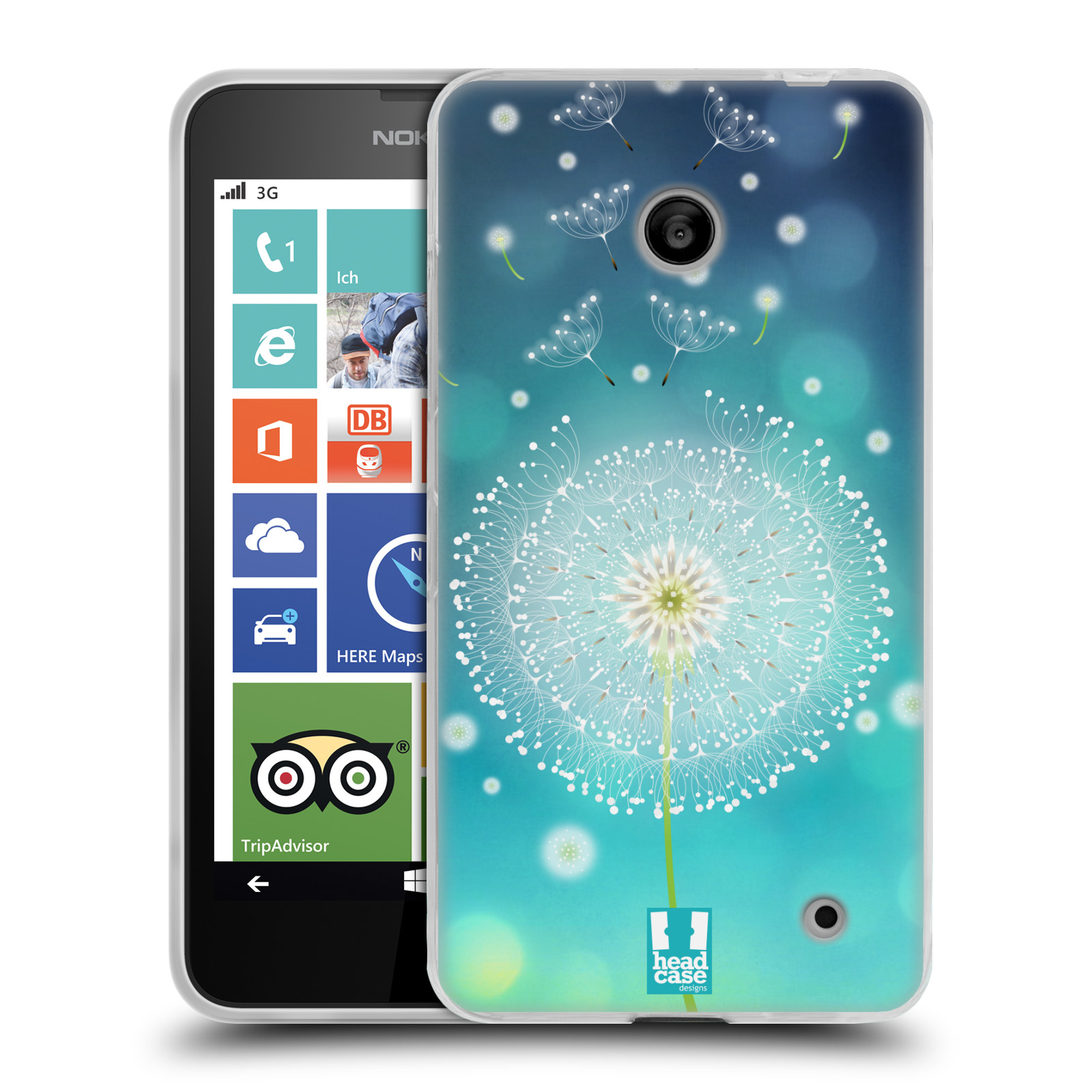 Silikonové pouzdro na mobil Nokia Lumia 630 HEAD CASE Rozlétaná pampeliška (Silikonový kryt či obal na mobilní telefon Nokia Lumia 630 a Nokia Lumia 630 Dual SIM)
