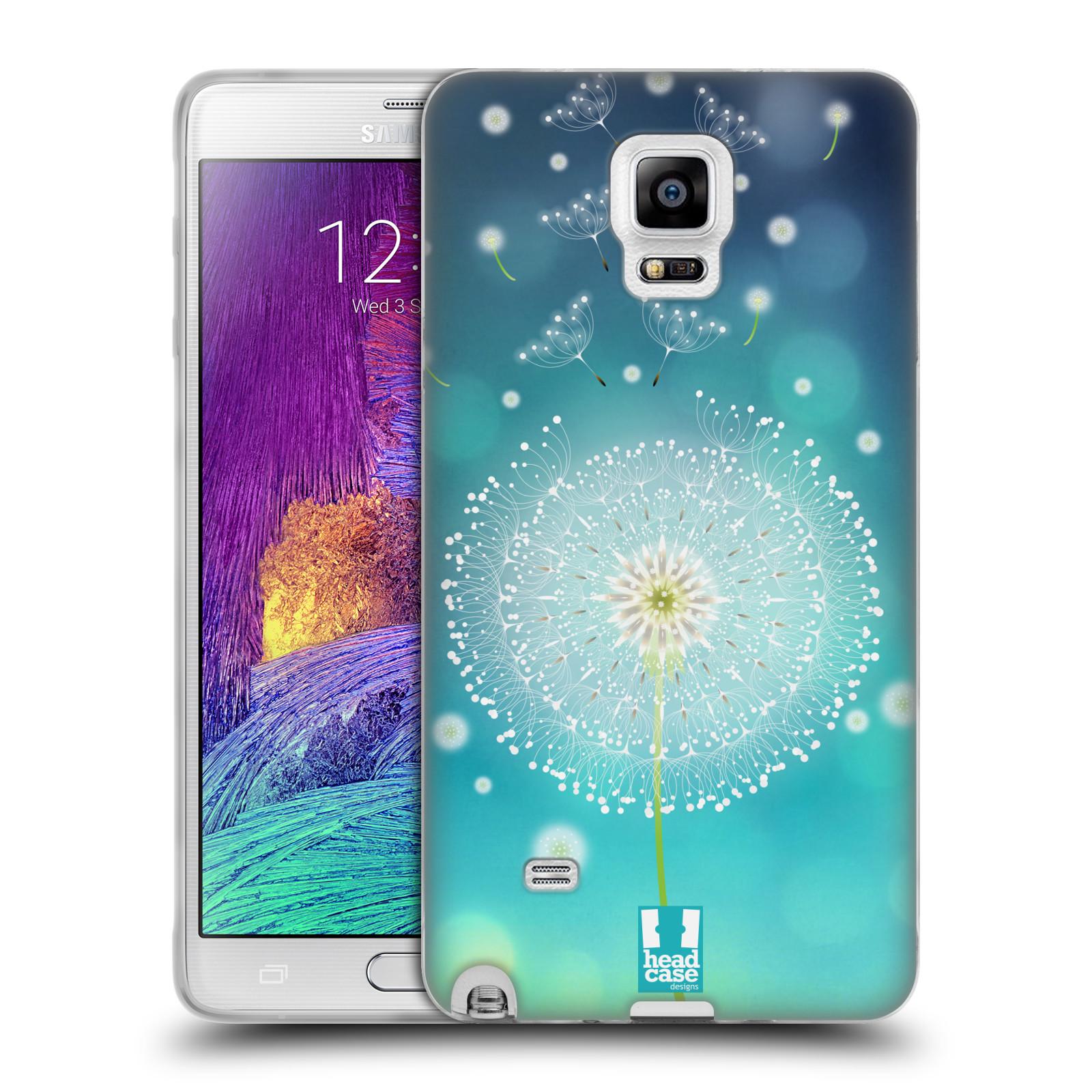 Silikonové pouzdro na mobil Samsung Galaxy Note 4 HEAD CASE Rozlétaná pampeliška (Silikonový kryt či obal na mobilní telefon Samsung Galaxy Note 4 SM-N910F)
