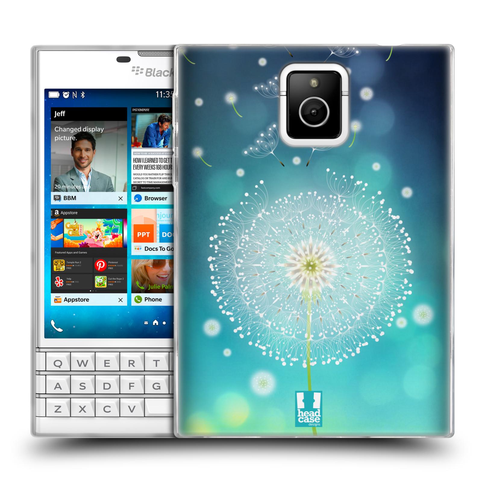 Silikonové pouzdro na mobil Blackberry PASSPORT HEAD CASE Rozlétaná pampeliška (Silikonový kryt či obal na mobilní telefon Blackberry PASSPORT)