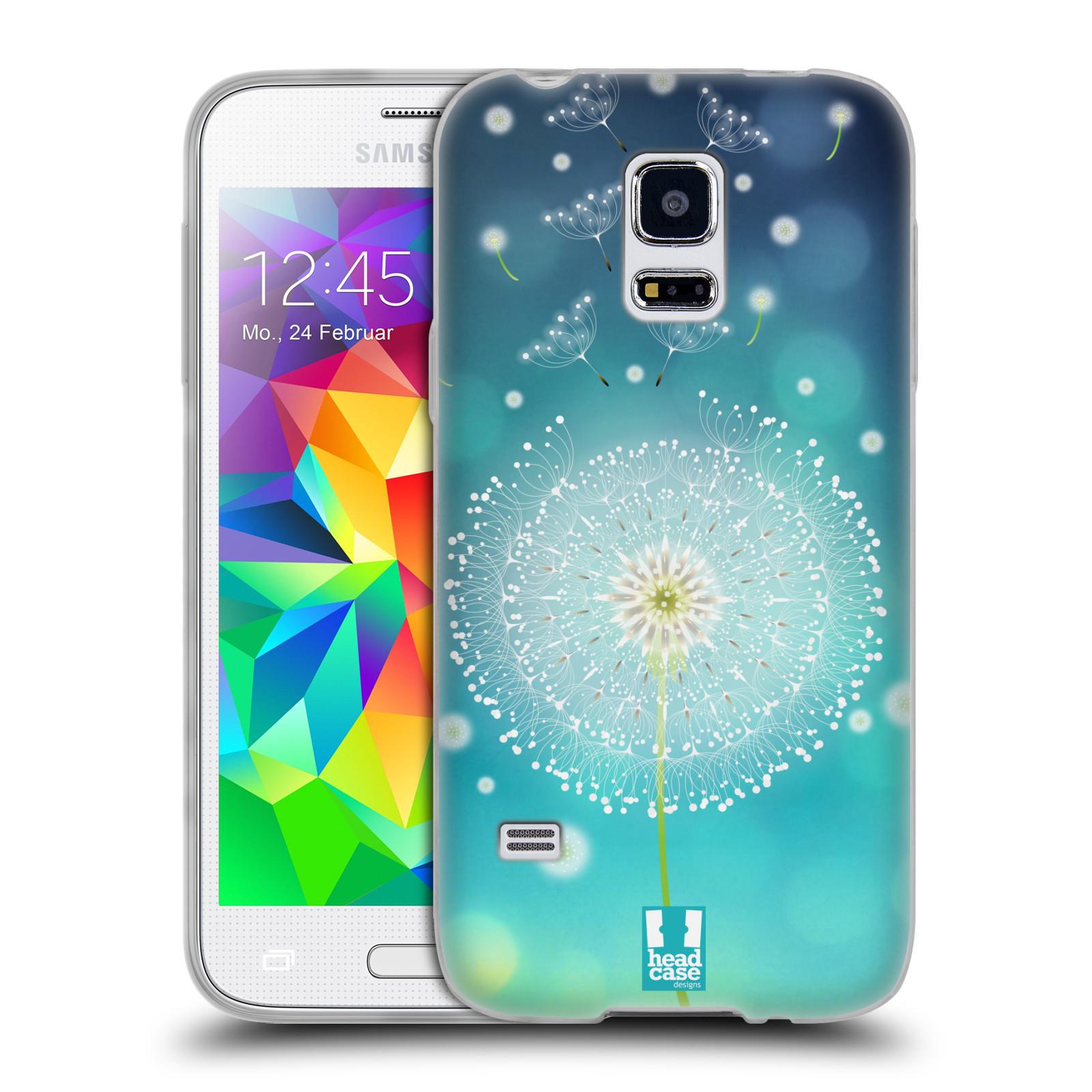 Silikonové pouzdro na mobil Samsung Galaxy S5 Mini HEAD CASE Rozlétaná pampeliška (Silikonový kryt či obal na mobilní telefon Samsung Galaxy S5 Mini SM-G800F)