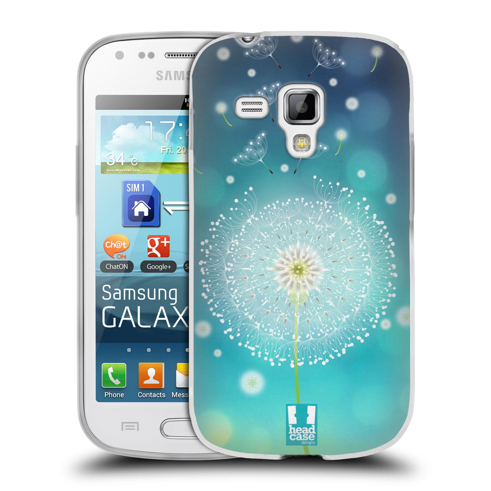 Silikonové pouzdro na mobil Samsung Galaxy S Duos HEAD CASE Rozlétaná pampeliška (Silikonový kryt či obal na mobilní telefon Samsung Galaxy S Duos GT-S7562)