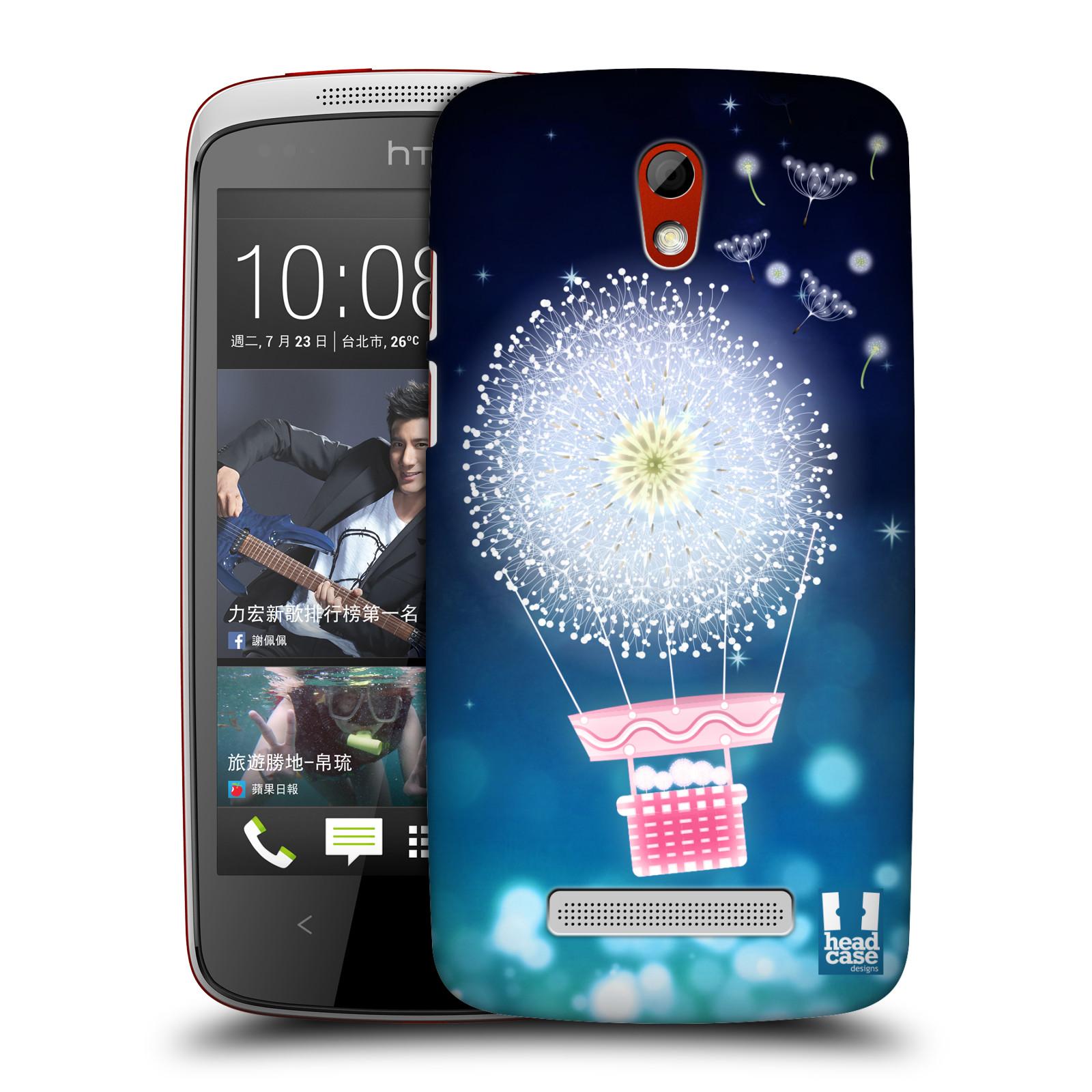 Plastové pouzdro na mobil HTC Desire 500 HEAD CASE Pampeliškový balón (Kryt či obal na mobilní telefon HTC Desire 500)